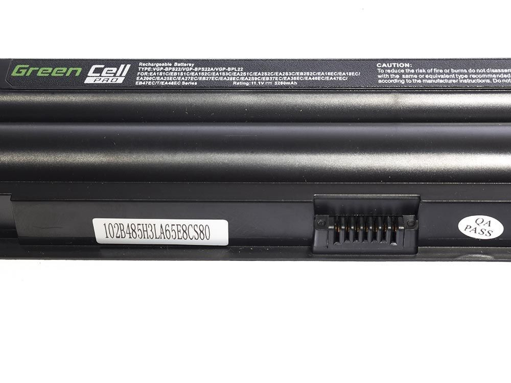 Green Cell SY01PRO Baterie Sony Vaio VGP-BPS22 VGP-BPS22A VGP-BPL22 BPS22 VPCEA 5200mAh Li-Ion - neoriginální