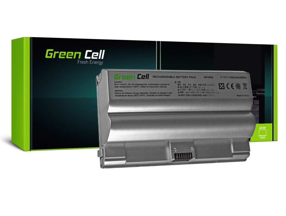 Green Cell akkumulátor Sony Vaio PCG-3A1M VGN-FZ21M VGN-FZ21S / 11,1V 4400mAh