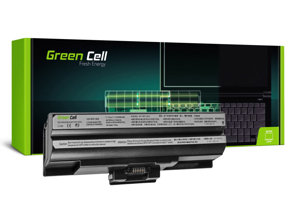 Green Cell akkumulátor Sony Vaio VGP-BPS13 VGP-BPS21 (fekete) / 11,1V 4400mAh