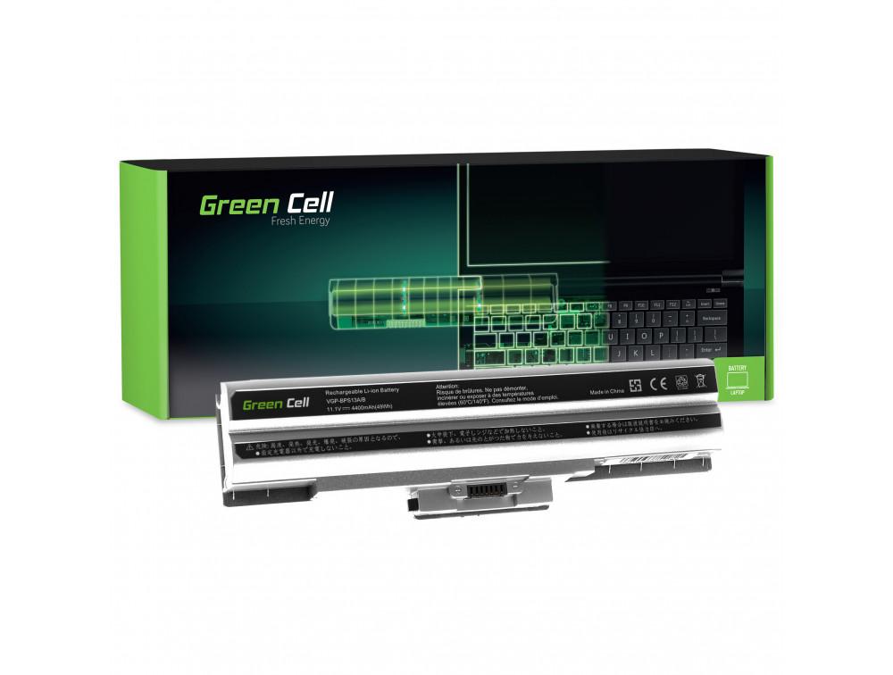 Green Cell akkumulátor Sony Vaio VGP-BPS13 VGP-BPS21 (ezüst) / 11,1V 4400mAh