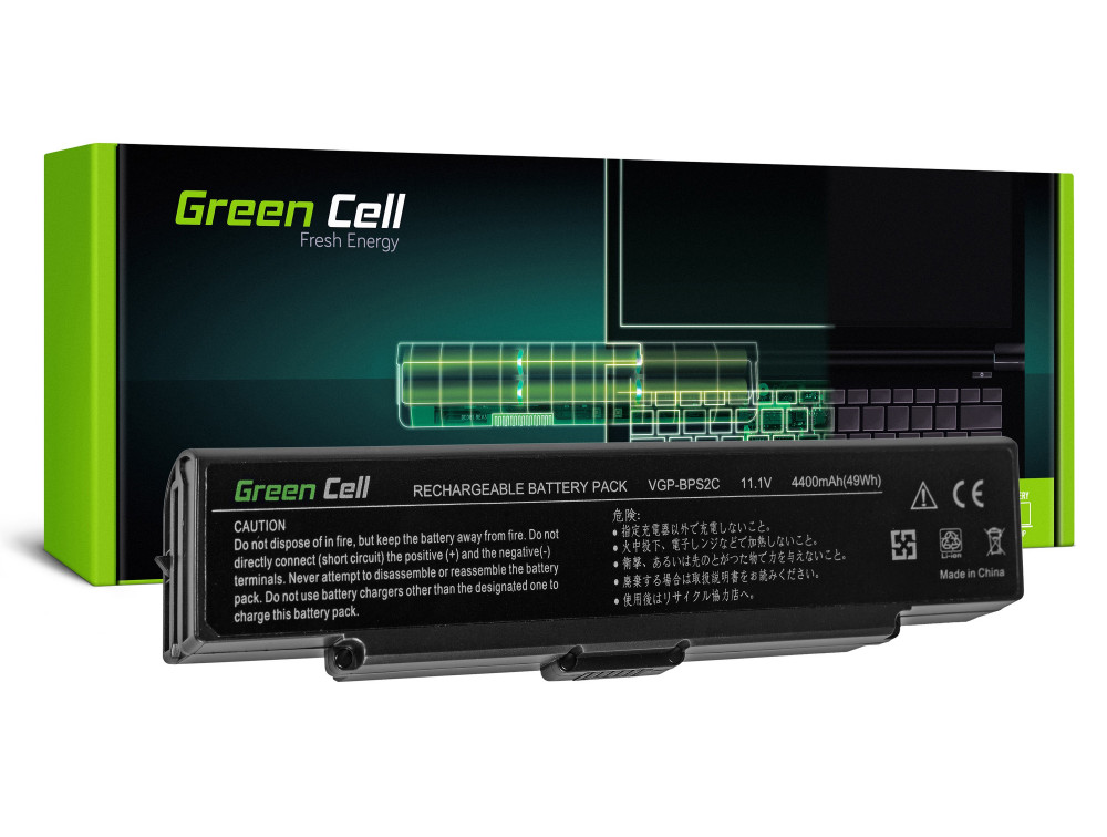 Green Cell akkumulátor Sony Vaio PCG-7D1M VGN-FE650G VGN-FE890N / 11,1V 4400mAh