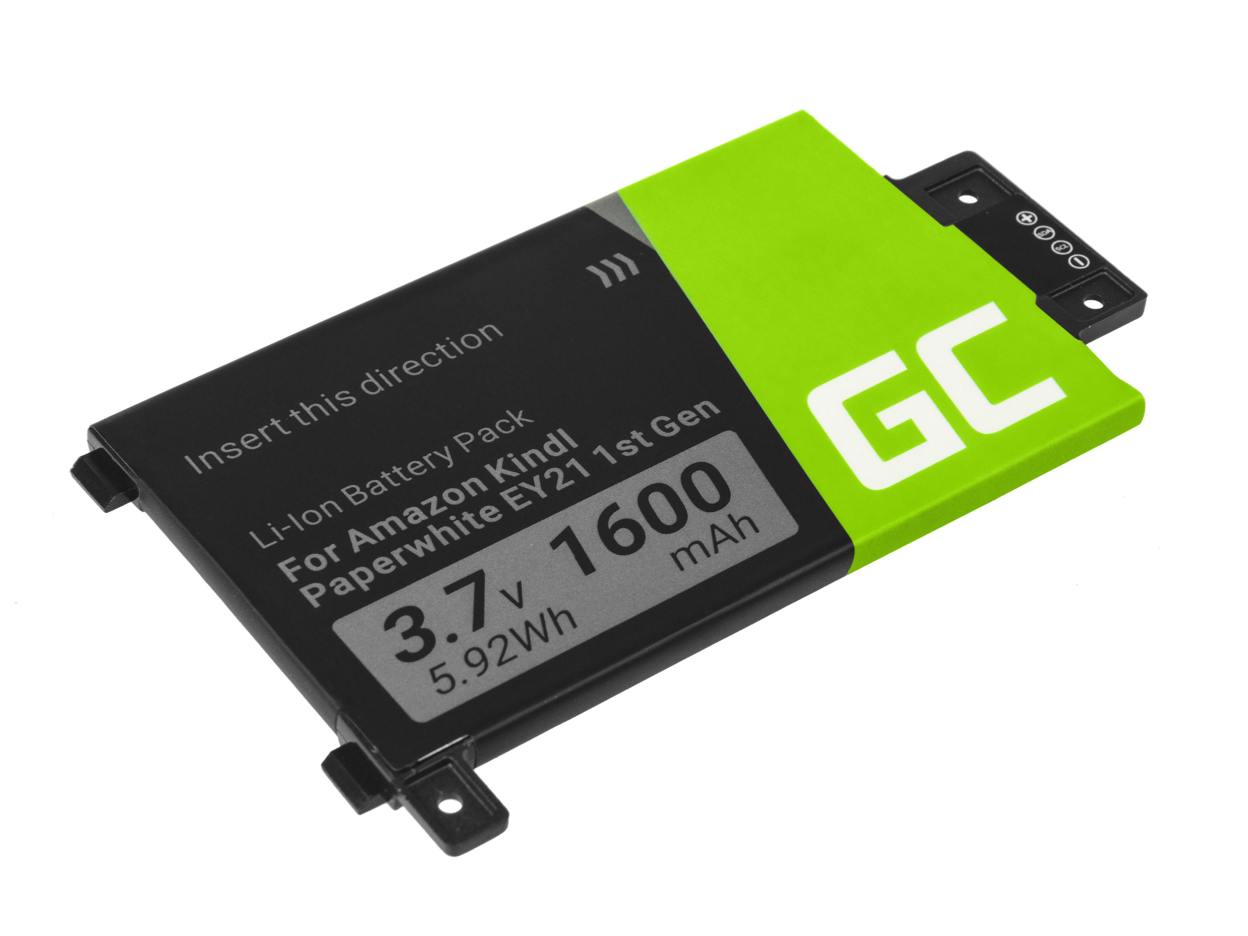 Baterie Green Cell 58-000008 pro e-book Amazon Kindle Paperwhite I 2012 1600mAh Li-ion - neoriginální