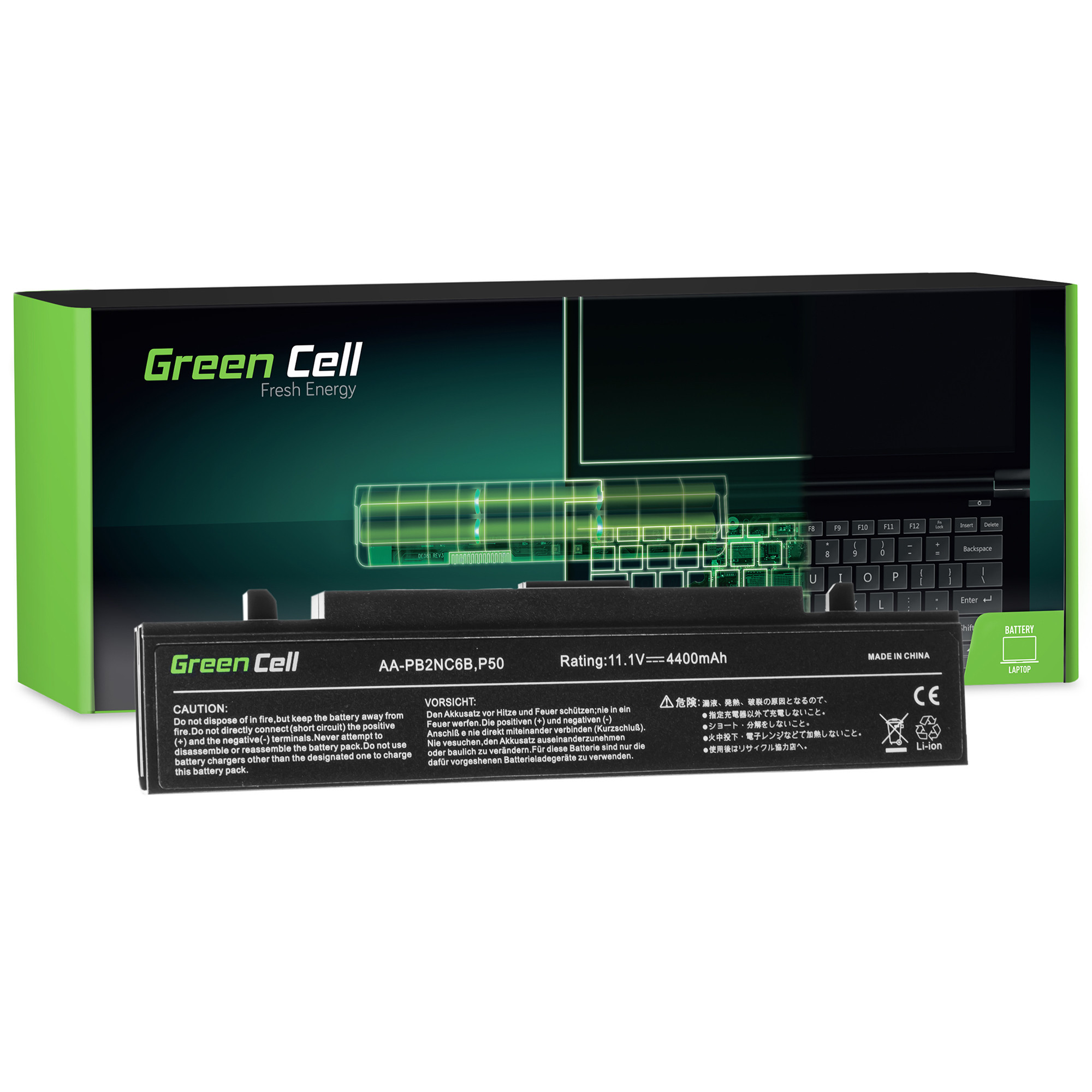 Green Cell Baterie pro Samsung NP-P500 NP-R505 NP-R610 NP-SA11 NP-R510 NP-R700 NP-R560 NP-R509 / 11,1V 4400mAh