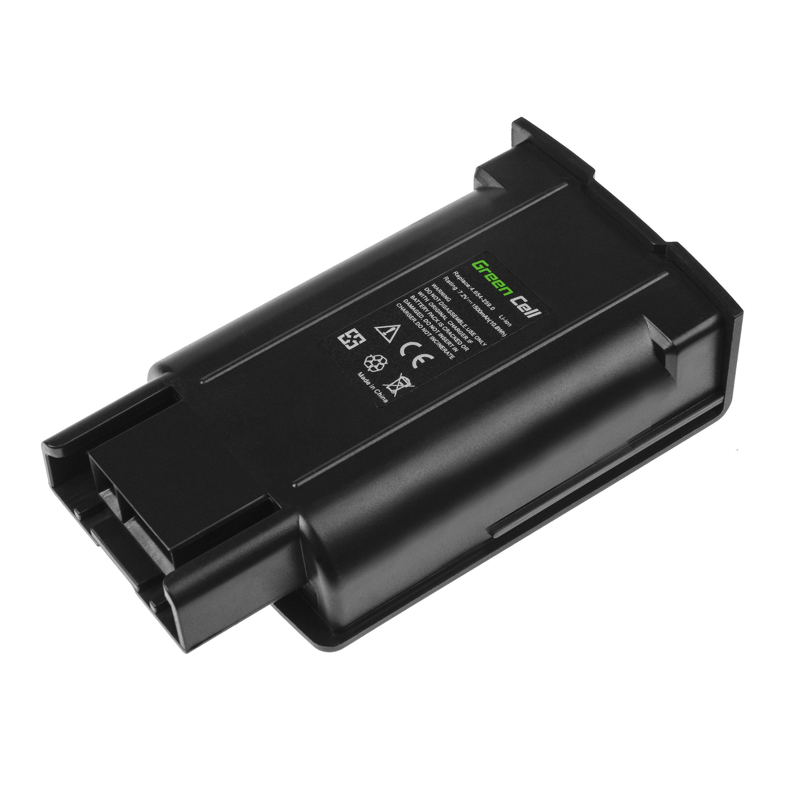 Baterie Green Cell Karcher EB 30/1 Electric Broom 7.2V 1500mAh Li-ion - neoriginální