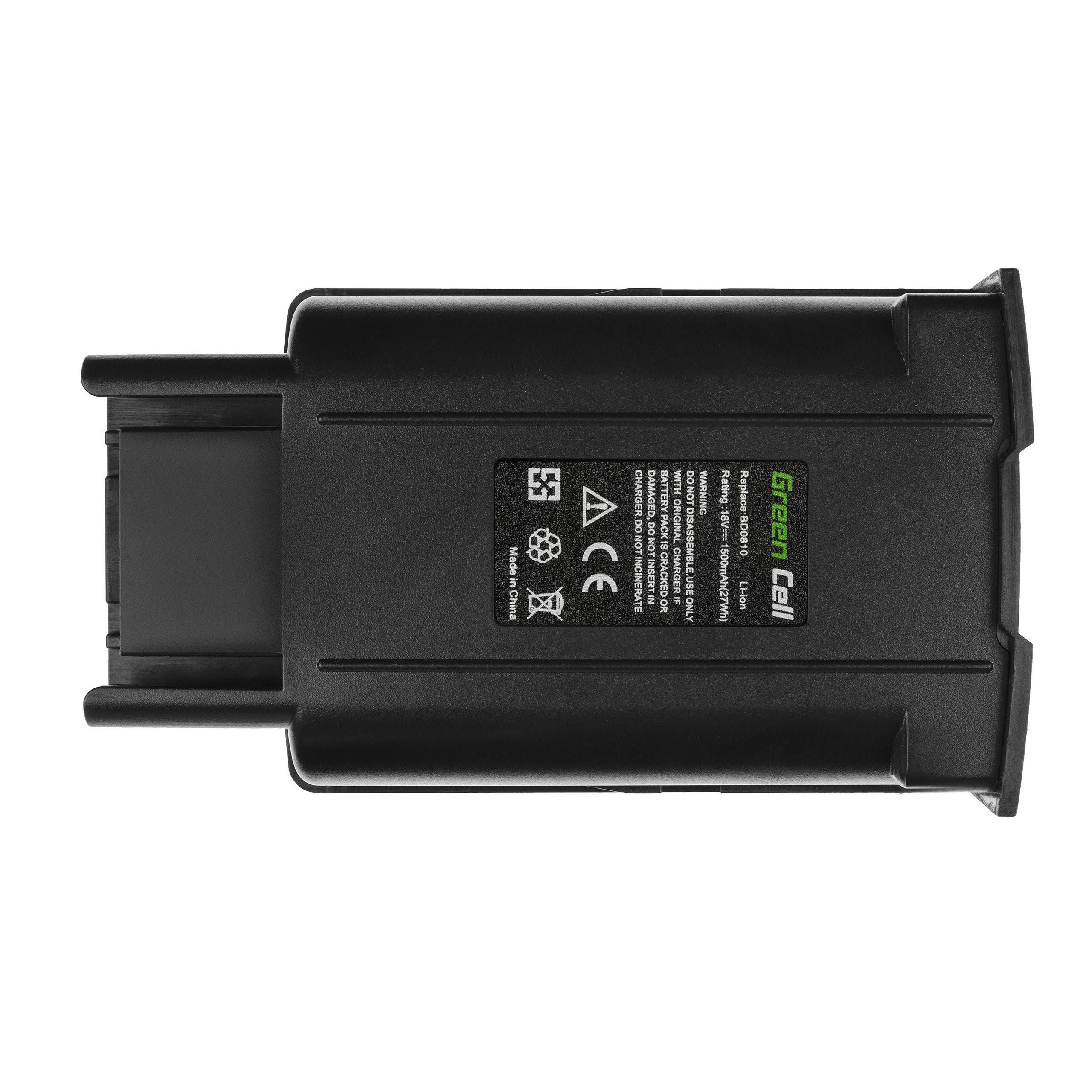 Baterie Green Cell Karcher KM 35/5 C 18V 1500mAh Li-ion - neoriginální