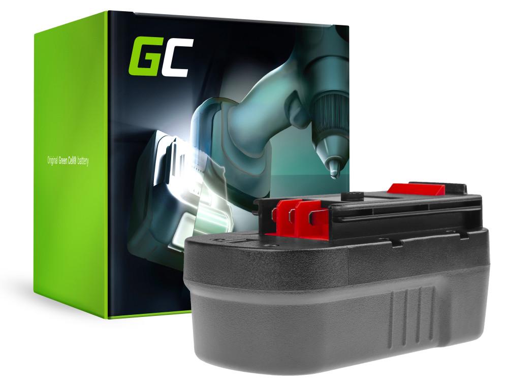 Green Cell Power Tool akkumulátor Black & Decker A1718 A18 HPB18 18V 3Ah