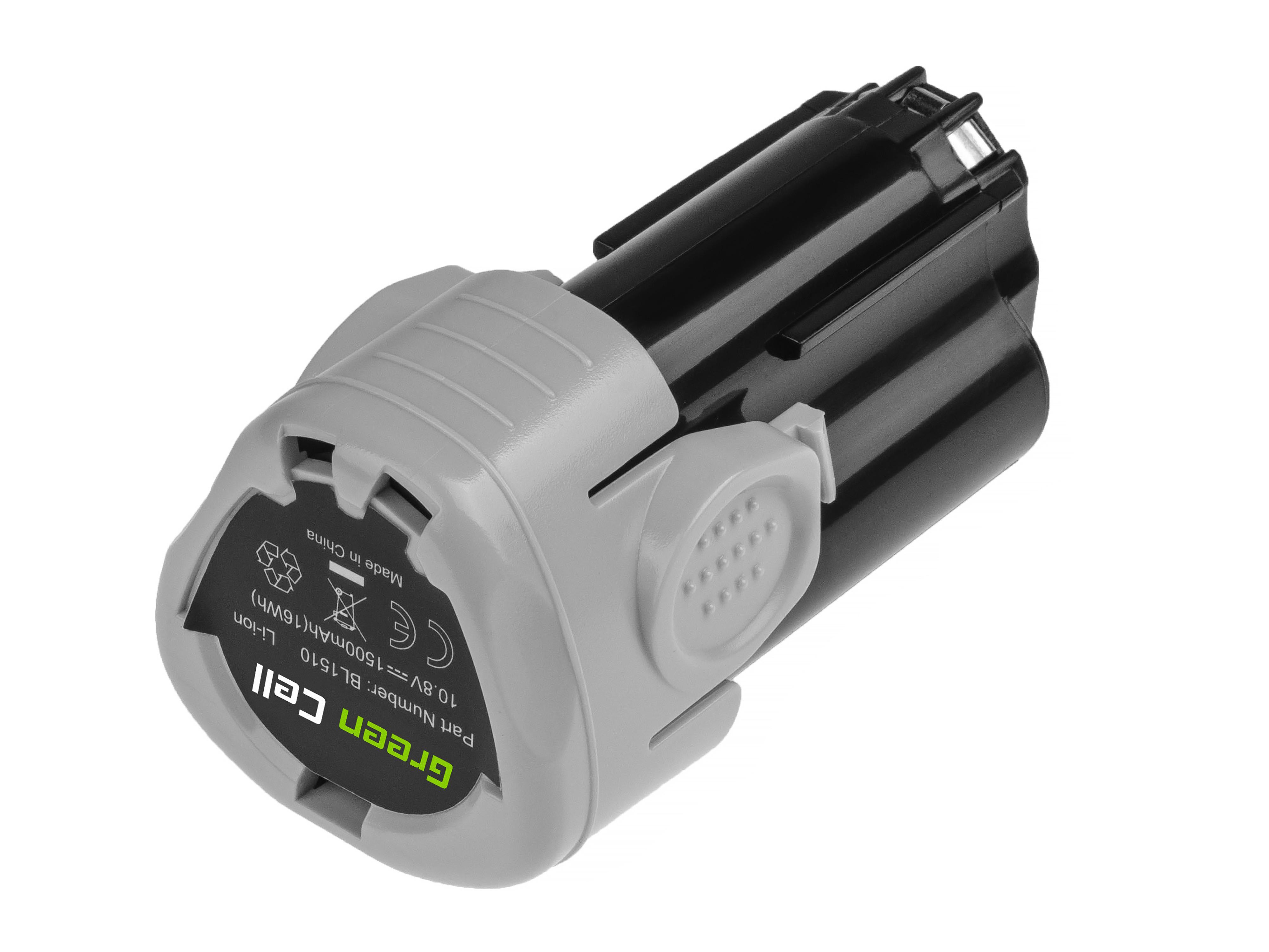 Baterie Green Cell Black&Decker BL1110 BL1310 BL1510 BDCDMT112 10.8V 1500mAh Li-ion - neoriginální
