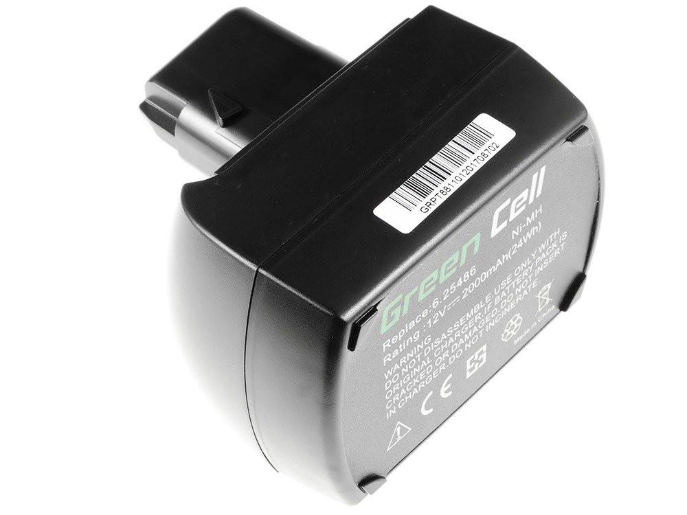 Green Cell Baterie Metabo BS 12 SP BSZ 12 12V 2Ah