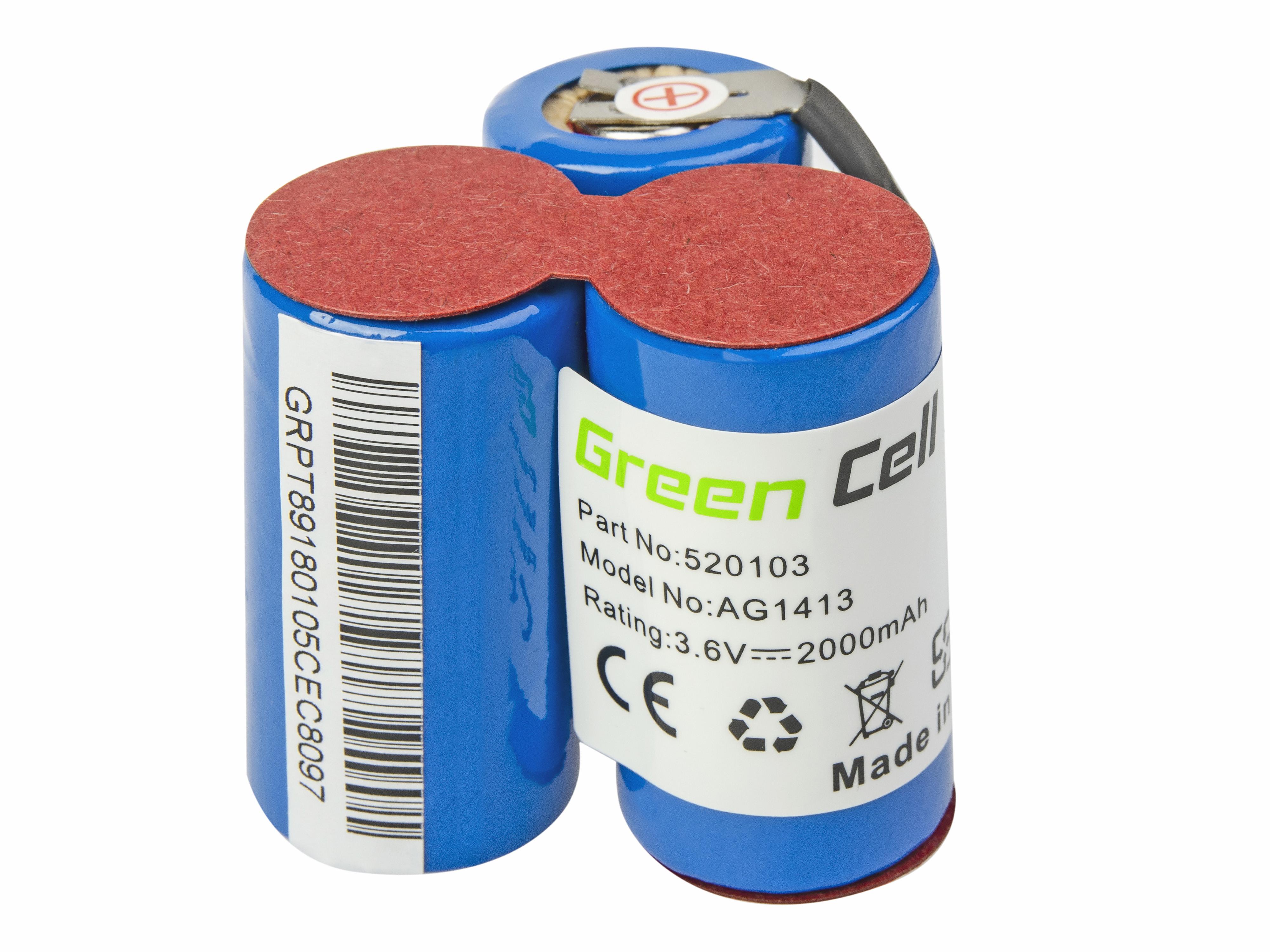 Baterie Green Cell Electrolux AEG Liliput AG1411 AG1412 AG1413 3.7V 2000mAh Ni-MH – neoriginální