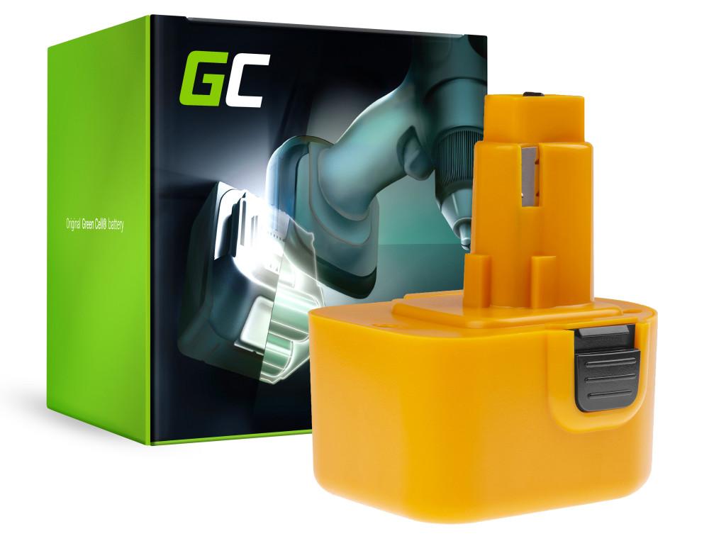 Green Cell Power Tool akkumulátor DeWalt DE9037 DE9071 DE9074 12V 2Ah