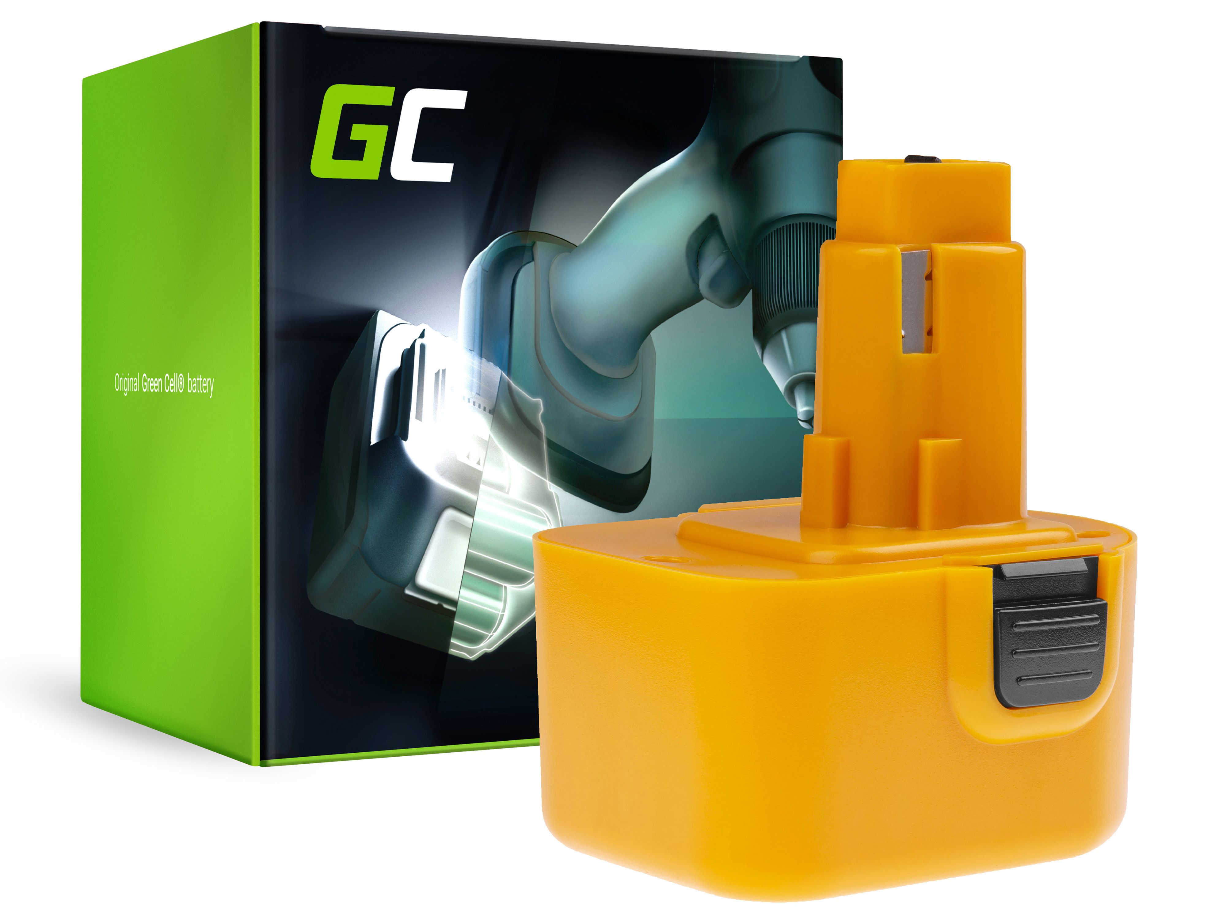Baterie Green Cell DeWalt DE9037 DE9071 DE9074 12V 2000mAh Ni-MH – neoriginální