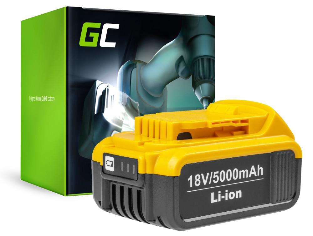 Green Cell Power Tool akkumulátor Dewalt DCB184 DCB182 DCB180 18V 5AH