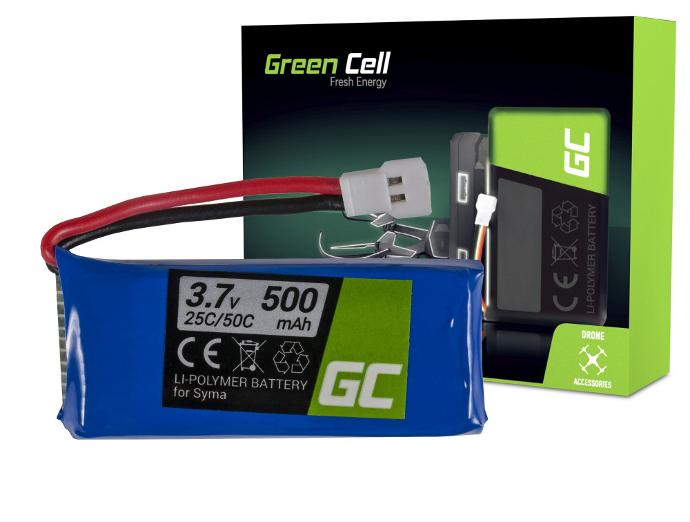 Green Cell RC akkumulátor Syma S032 S032G S39 3.7V 500mAh