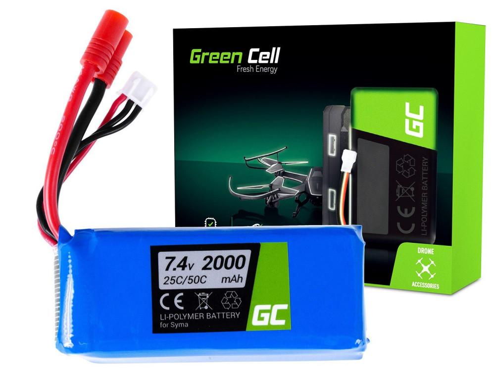 Green Cell RC akkumulátor Syma X8C X8G X8HC X8HG X8HW X8W 7,4V 2000mAh