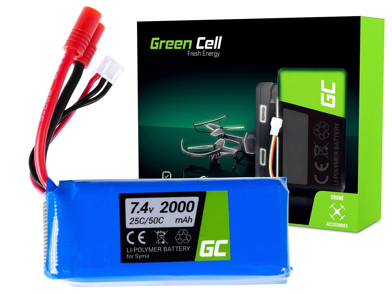 Baterie Green Cell Syma X8C X8G X8HC X8HG X8HW X8W 7.4V 2000mAh Li-Pol – neoriginální