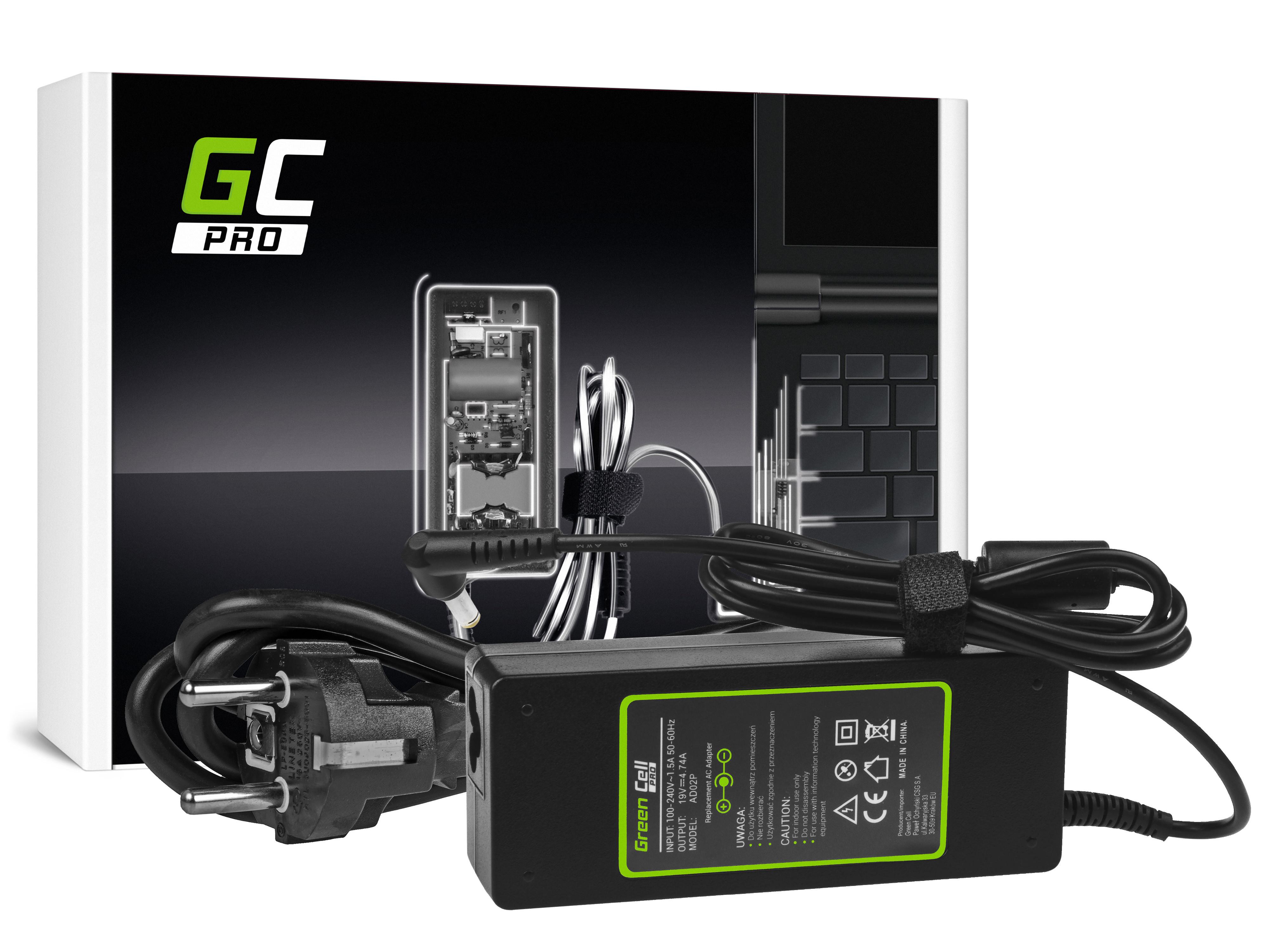 Green Cell AD02P Nabíječka adaptér pro Acer Aspire 5730Z 5738ZG 7720G 7730 7730G TravelMate 2301WLMi 19V 4.74A | 90W