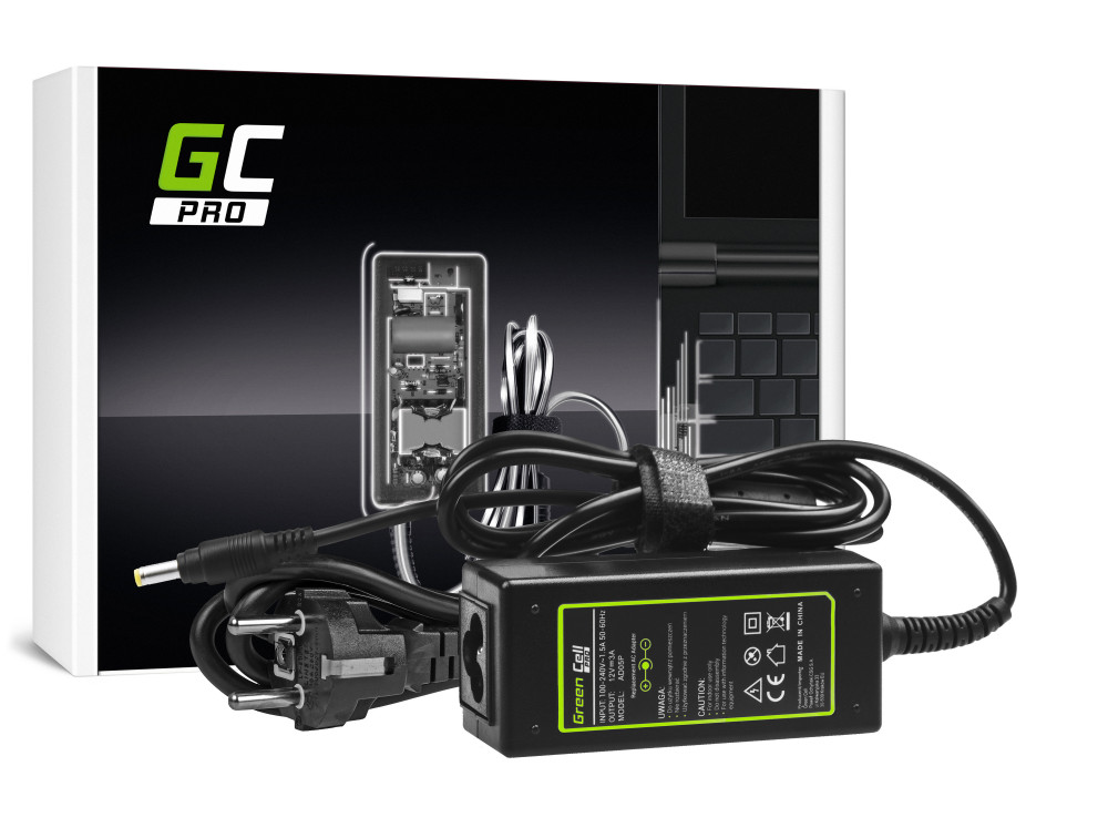 Green Cell PRO töltő AC adapter Asus Eee PC 901 904 1000 1000H 1000HA 1000HD 1000HE 12V 3A 36W