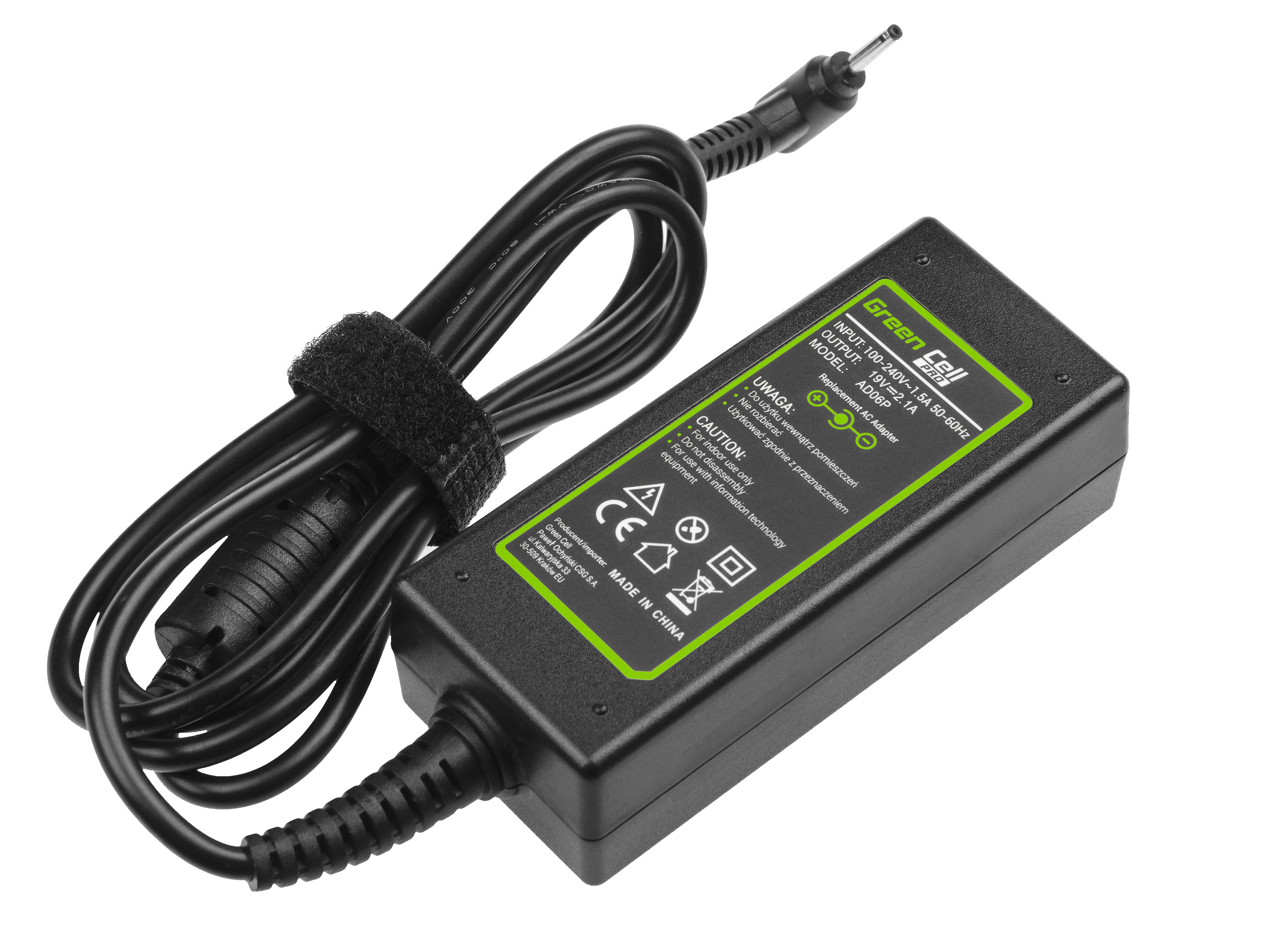 Green Cell PRO Charger  AC Adapter for Asus Eee PC 1001PX 1001PXD 1005HA 1201HA 1201N 1215B 1215N X101 X101CH X101H 19V 2.1A 40