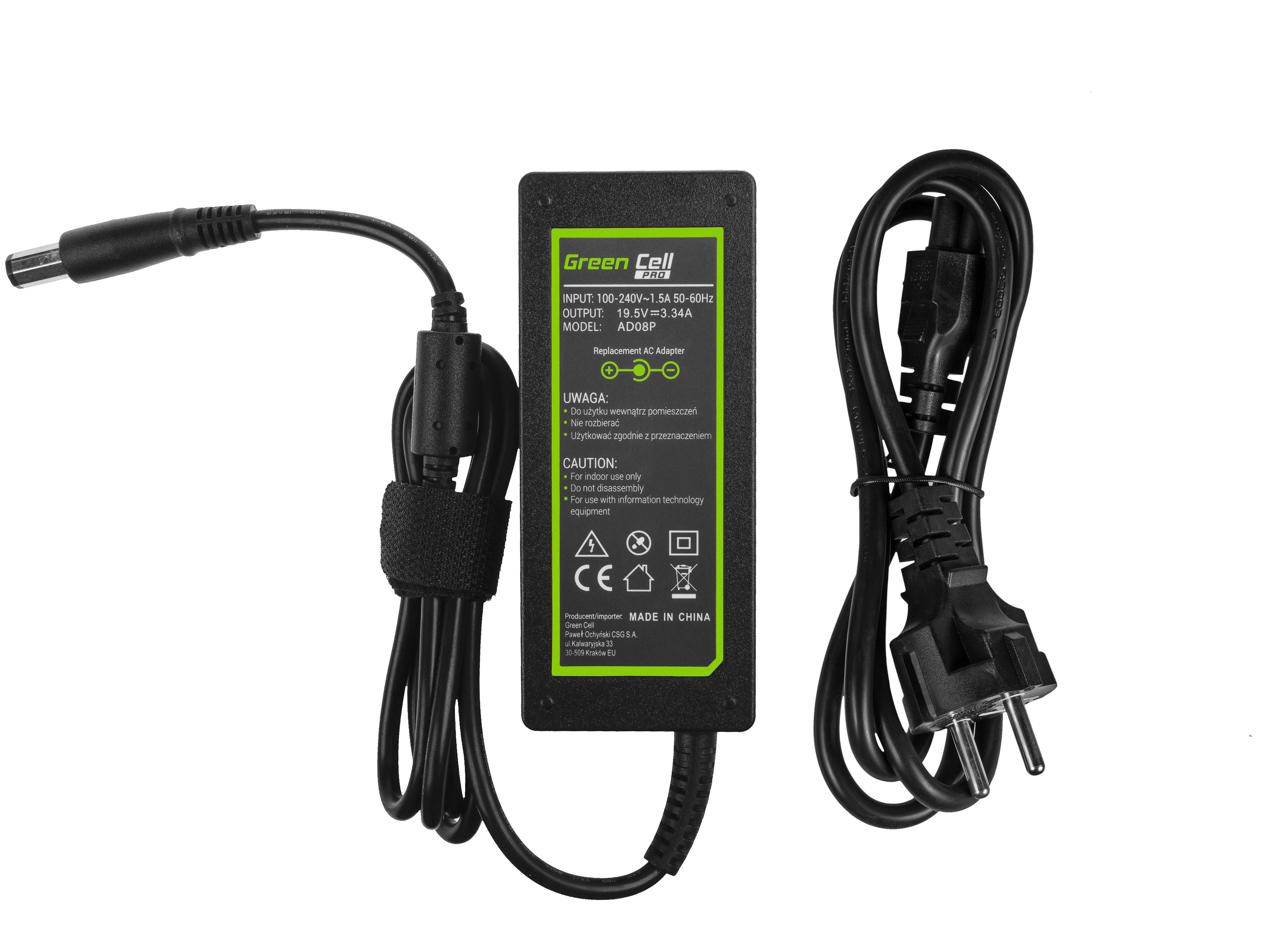 Green Cell AD08P Nabíječka adaptér pro Dell Inspiron 1546 1545 1557 XPS M1330 M1530 19,5V 65W