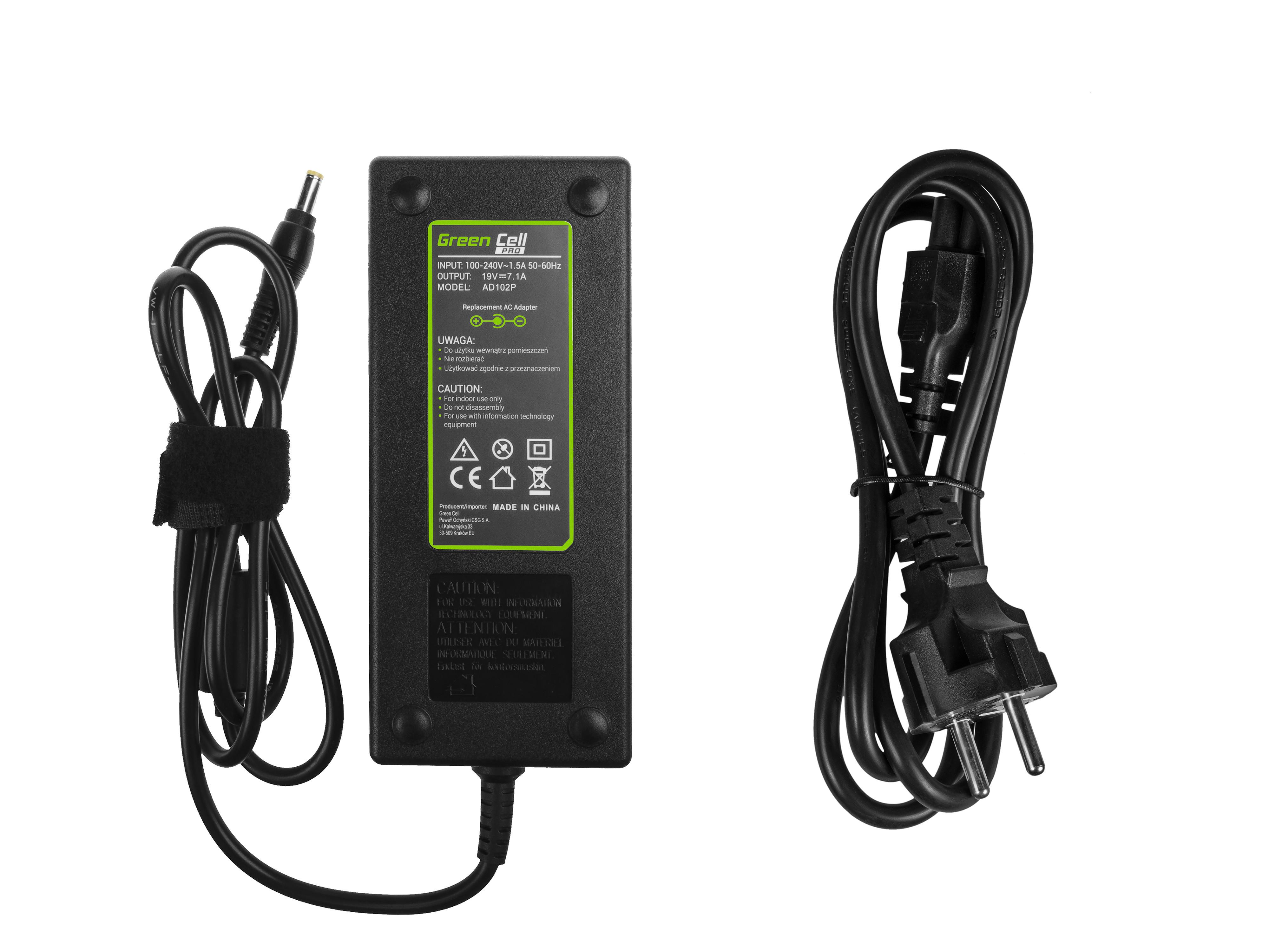 Green Cell AD102P Adaptér Nabíječka Acer Aspire Nitro V15 VN7-571G VN7-572G VN7-591G VN7-592G 19V 7.1A 135W