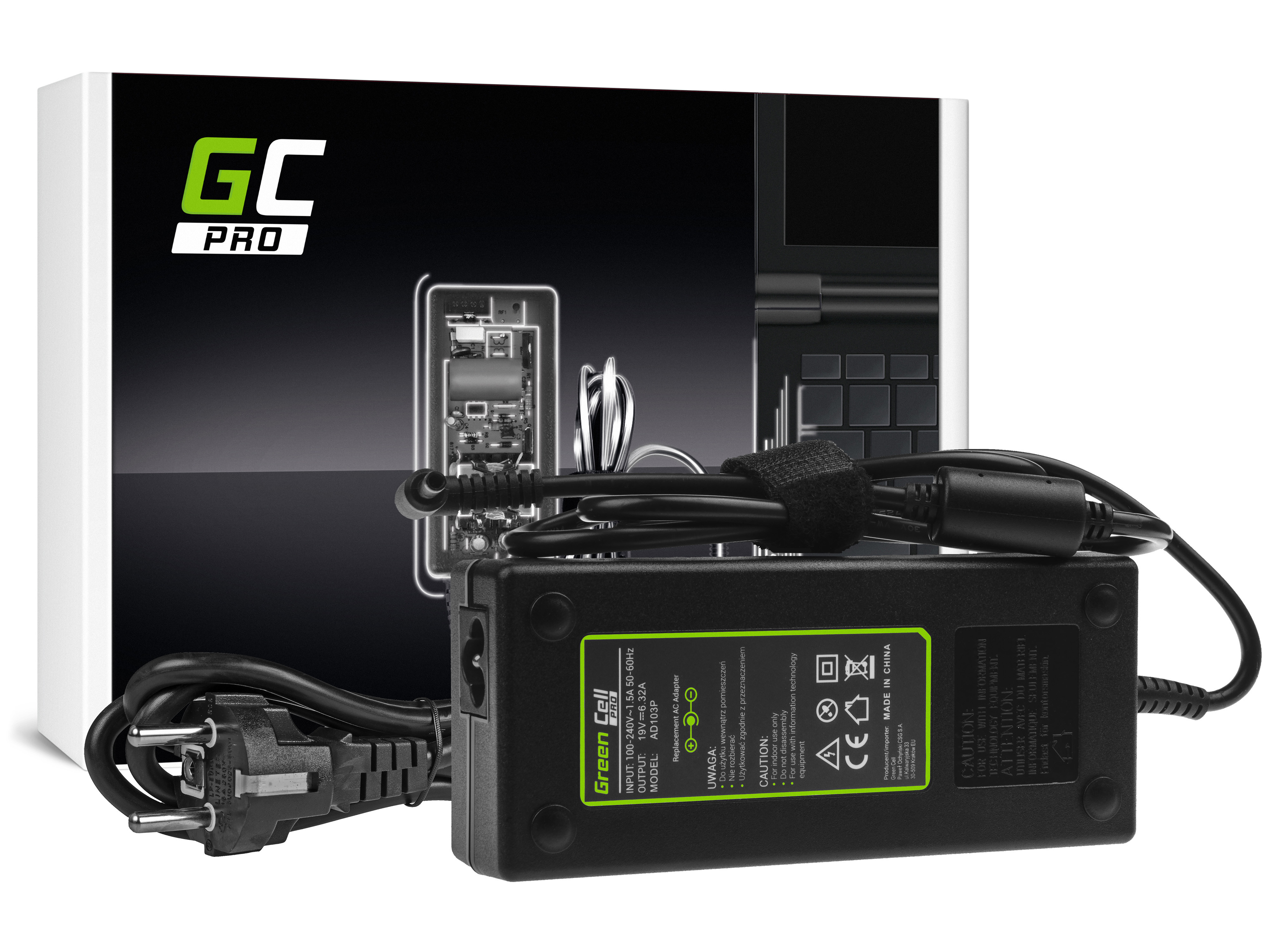 Green Cell AD103P Adaptér Nabíječka Asus N501J N501JW Zenbook Pro UX501 UX501J UX501JW UX501V UX501VW 19V 6.32A 120W