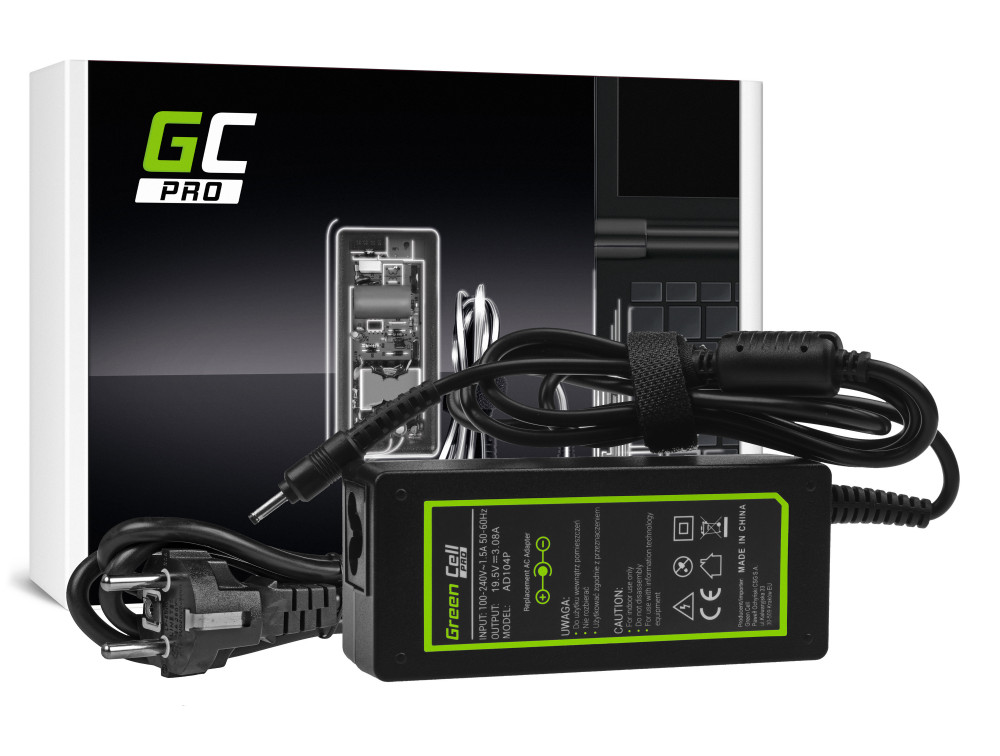 Green Cell PRO töltő AC adapter Asus Eee Slate EP121 B121 19.5V 3.08A 60W