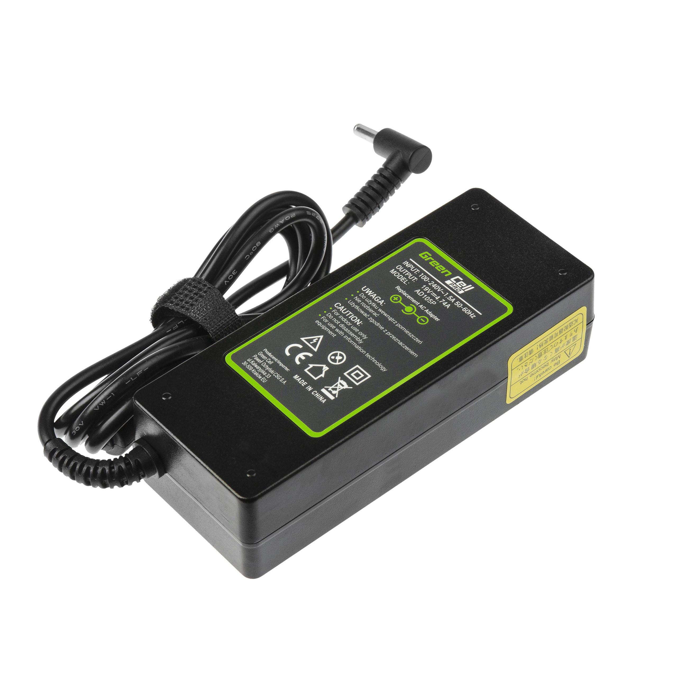 Zasilacz Ładowarka Green Cell PRO 19V 4.74A 90W do AsusPRO B8430U P2440U P2520L P2540U P4540U P5430U Asus Zenbook UX51VZ