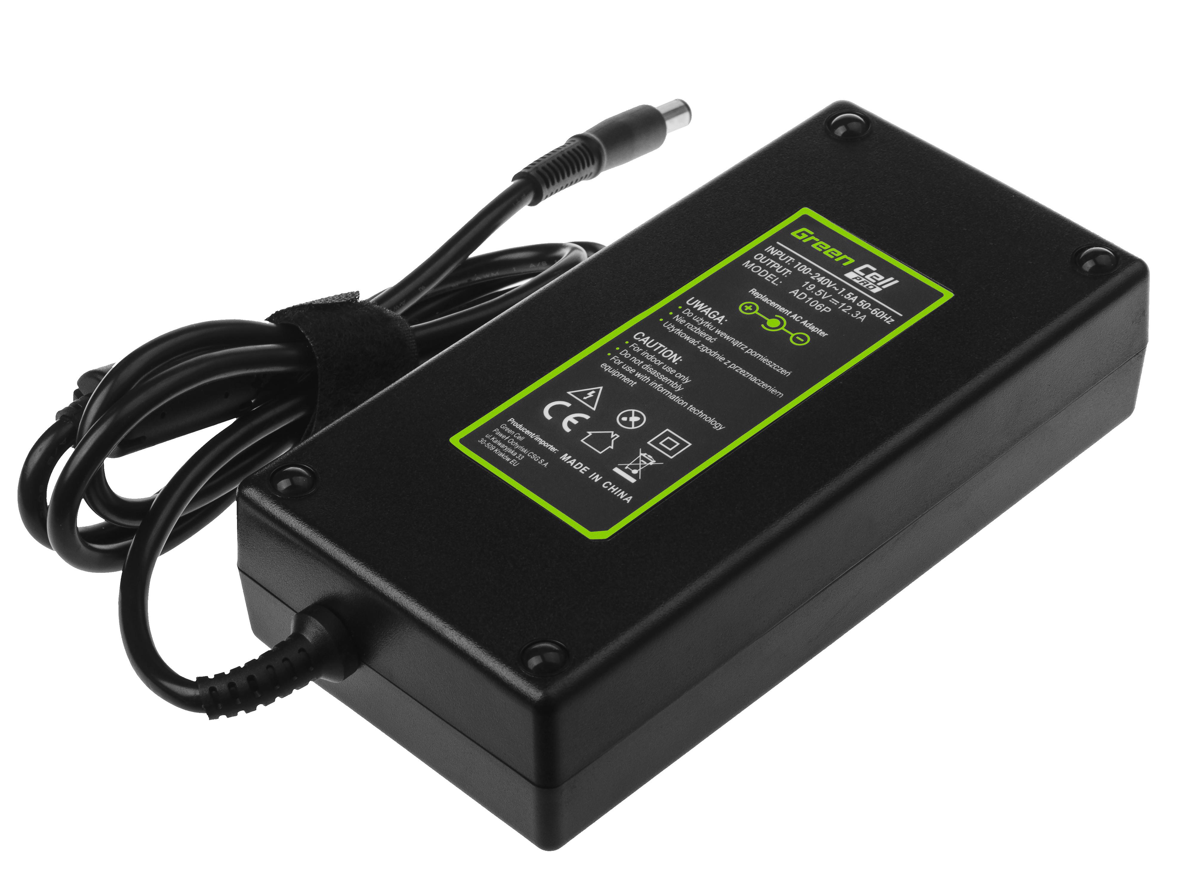 Green Cell AD106P Nabíječka adaptér pro Dell Precision 7510 7710 M4700 M4800 M6600 M6700 M6800 Alienware 17 M17x 19,5V 240W