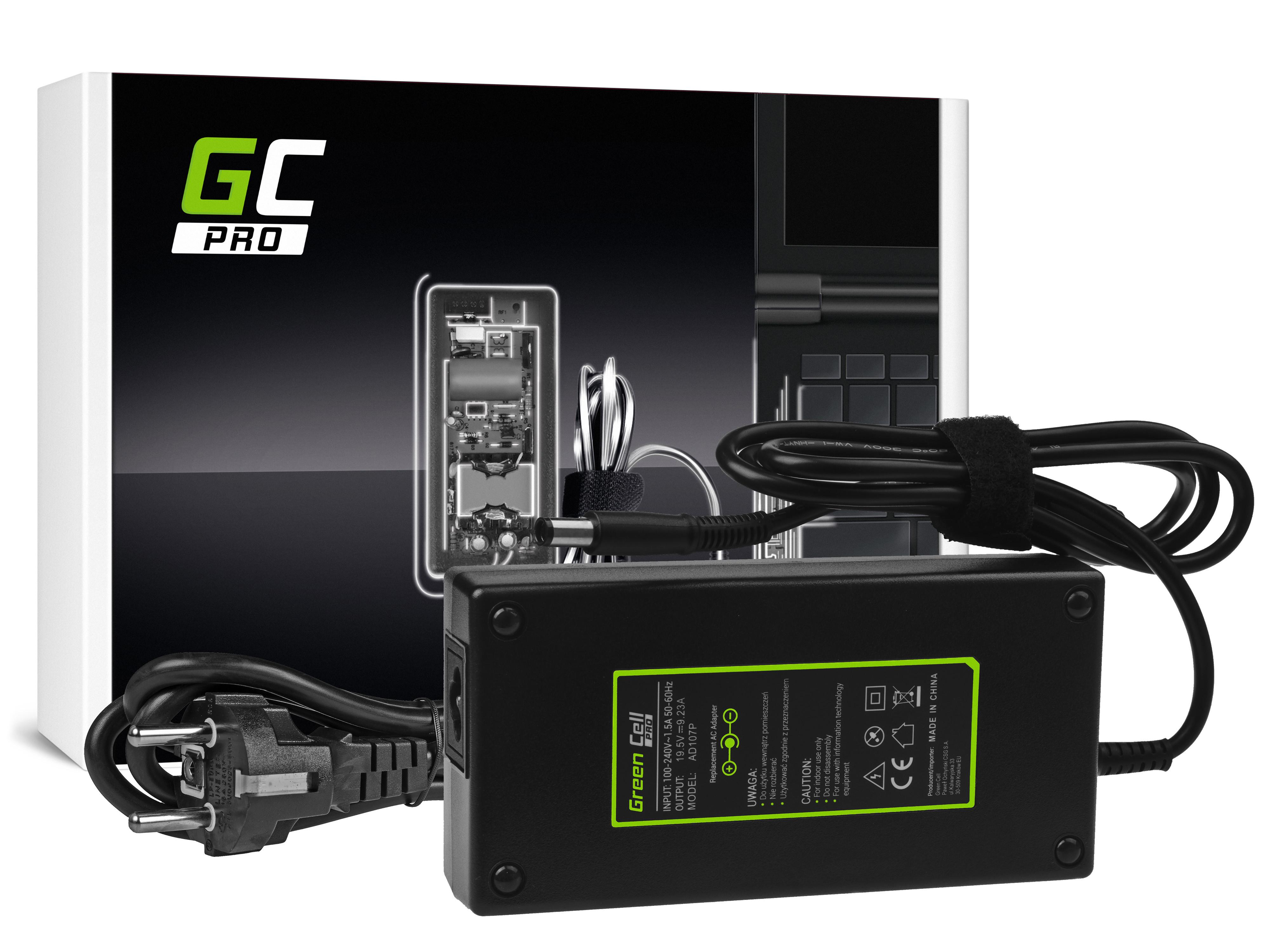 Green Cell AD107P Adaptér Nabíječka Dell Latitude E5510 E7240 E7440 Alienware 13 14 15 M14x M15x R1 R2 R3 19.5V 9.23A 180W