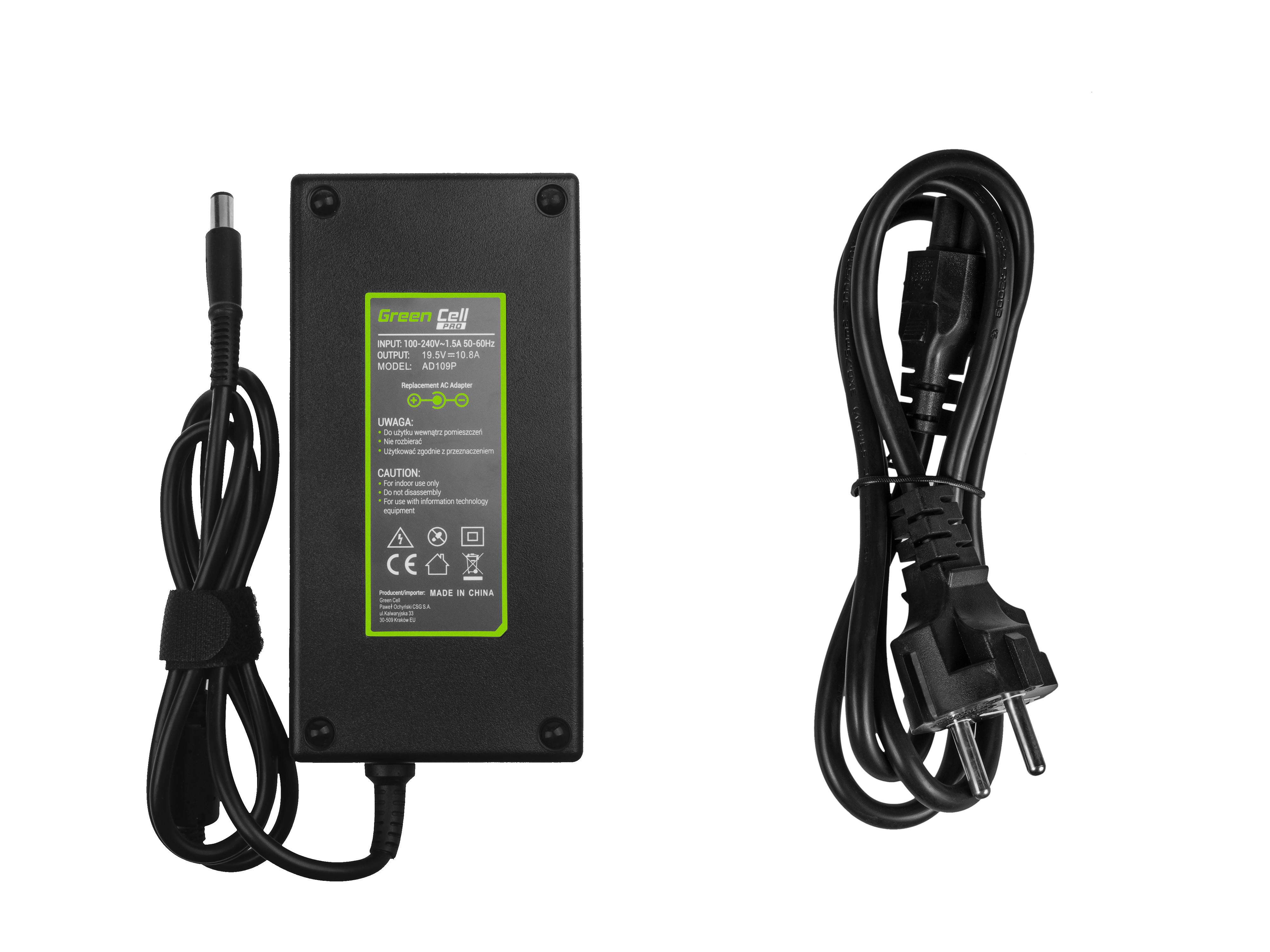 Green Cell AD109P Adaptér Nabíječka Dell Precision M4600 M4700 M6600 M6700 Dell Alienware 17 M17x 19.5V 10.8A 210W
