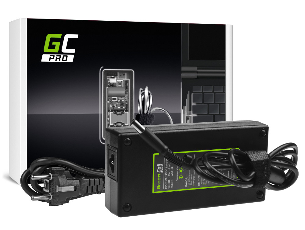 Green Cell PRO töltő AC adapter HP EliteBook 8530p 8530w 8540p 8540w 8560p 8560w 8570w 8730w ZBook 15 G1 G2 19V 7.9A 150