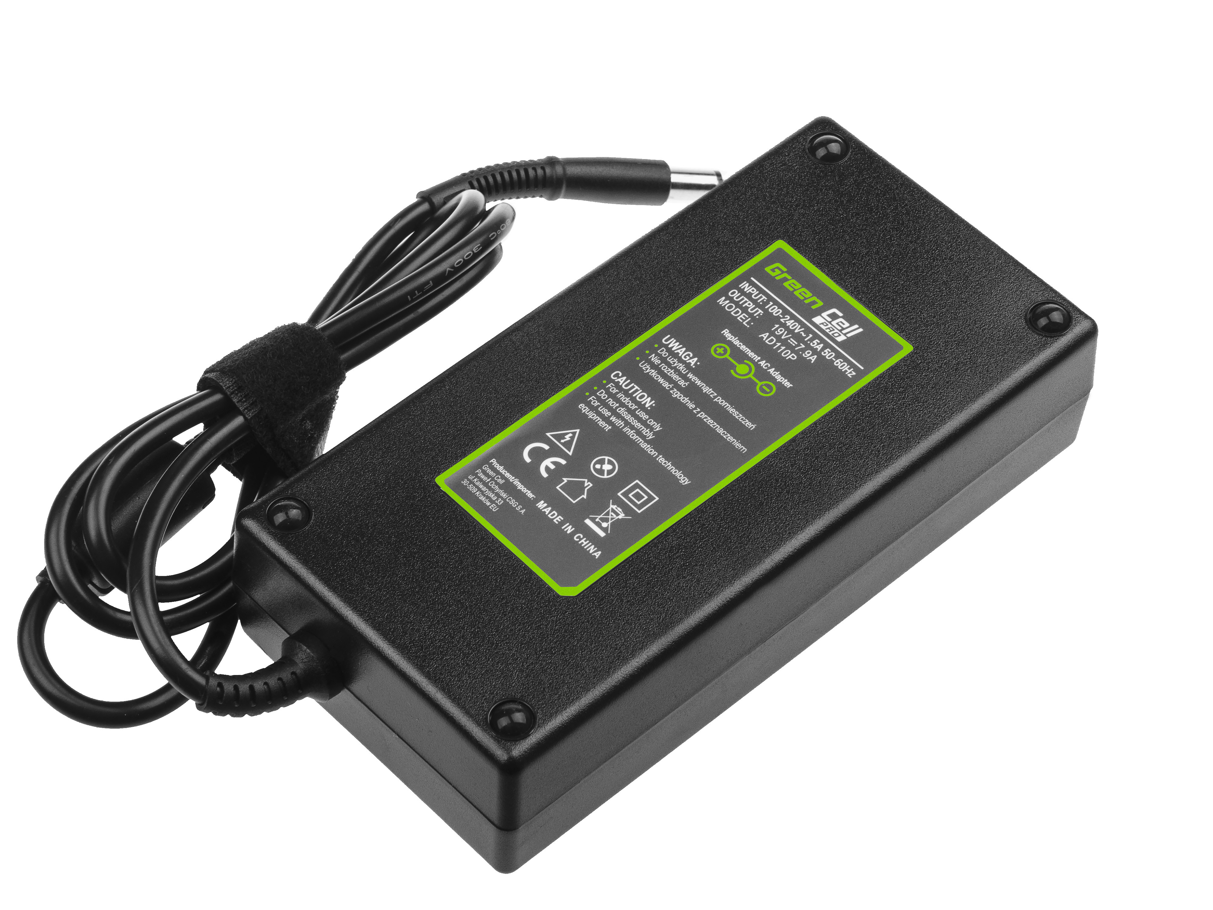 Green Cell PRO Charger  AC Adapter for HP EliteBook 8530p 8530w 8540p 8540w 8560p 8560w 8570w 8730w ZBook 15 G1 G2 19V 7.9A 150