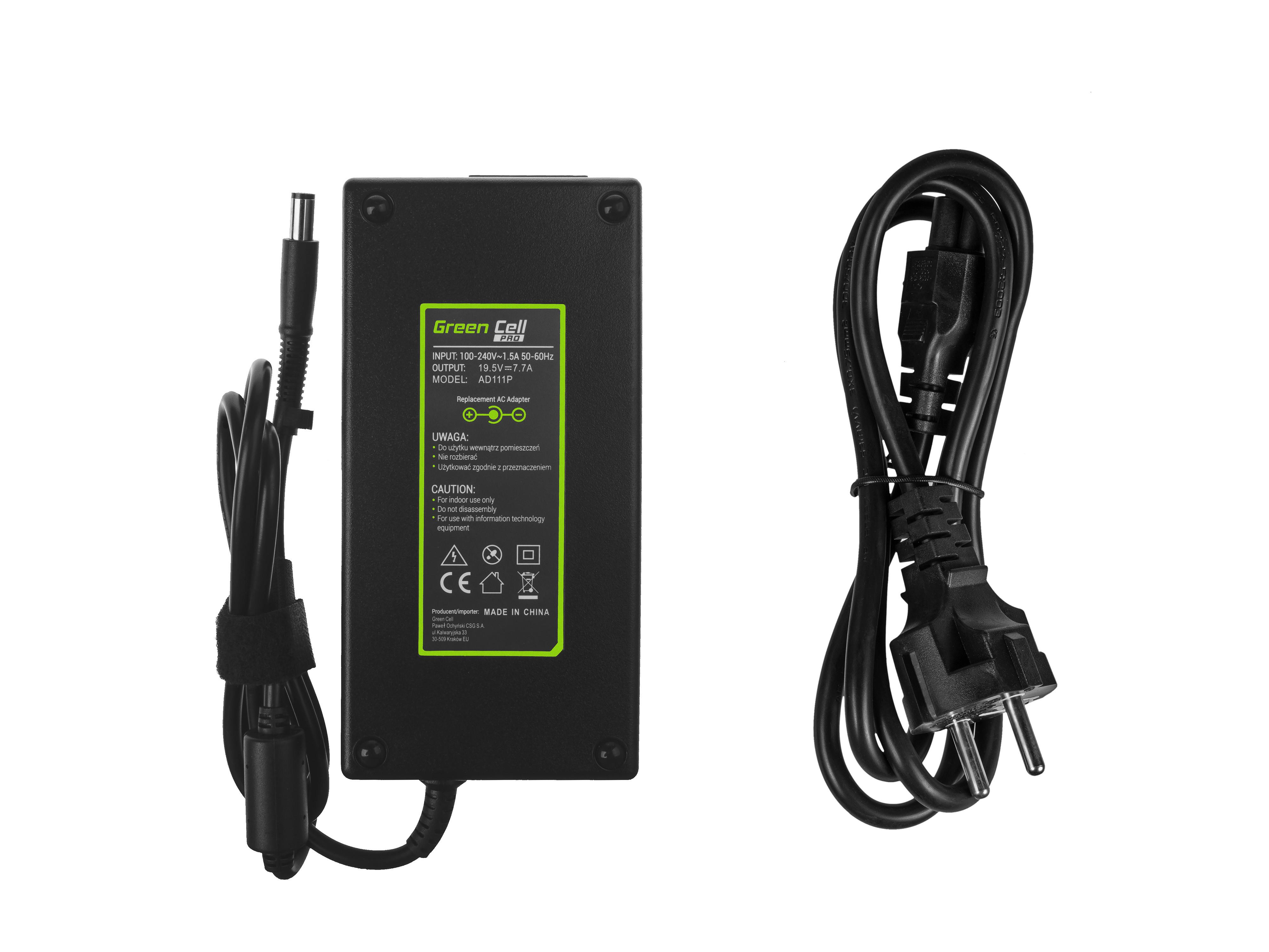 Green Cell AD111P Adaptér Nabíječka pro HP EliteBook 8530p 8530w 8540p 8540w 8560p 8560w 8570w 8730w ZBook 15 G1 G2 19.5V 7.7A 150W