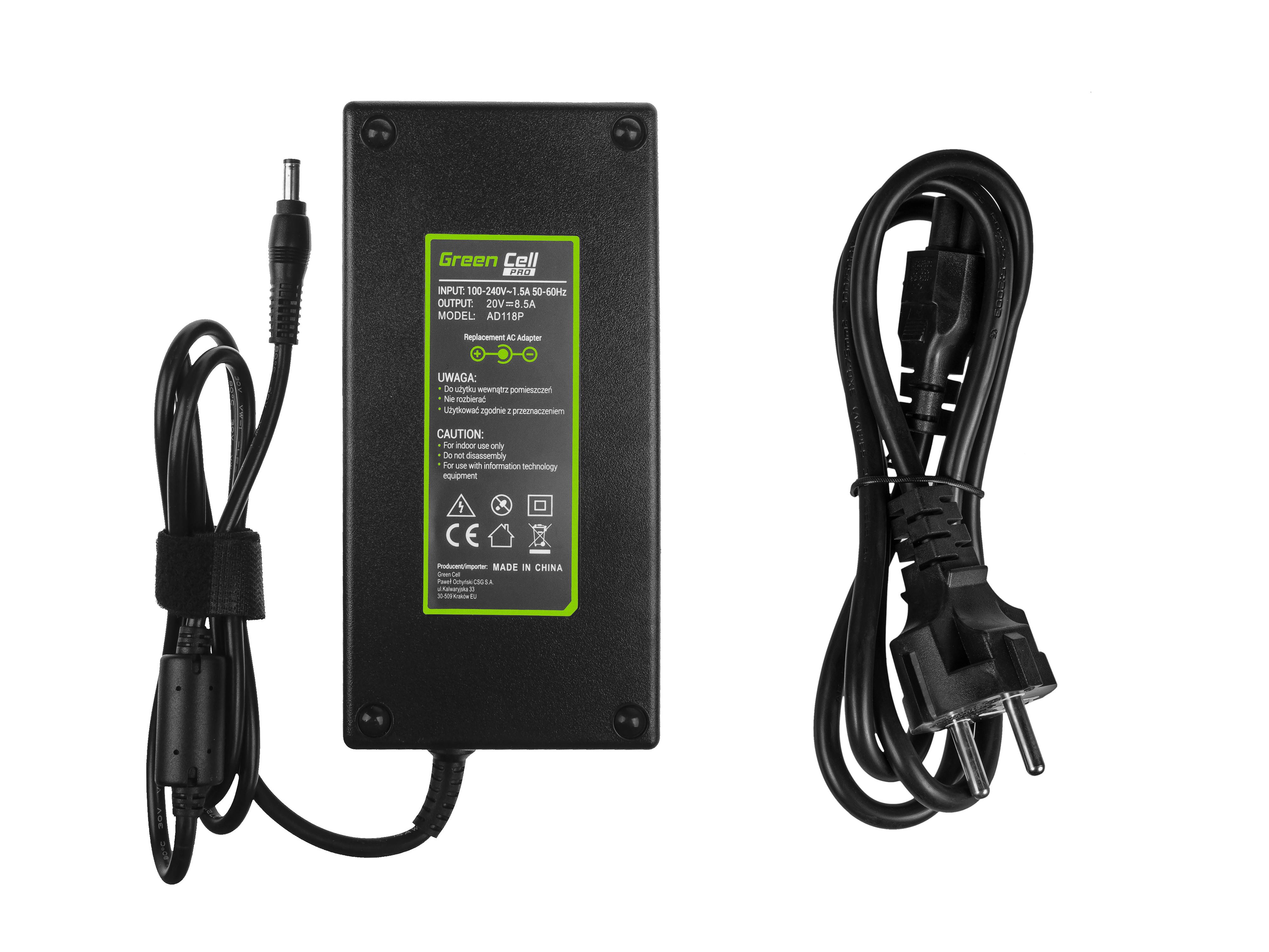 Green Cell AD118P Nabíječka Adaptér pro Lenovo IdeaPad Y400 Y410p Y500 Y510p 20V 170W