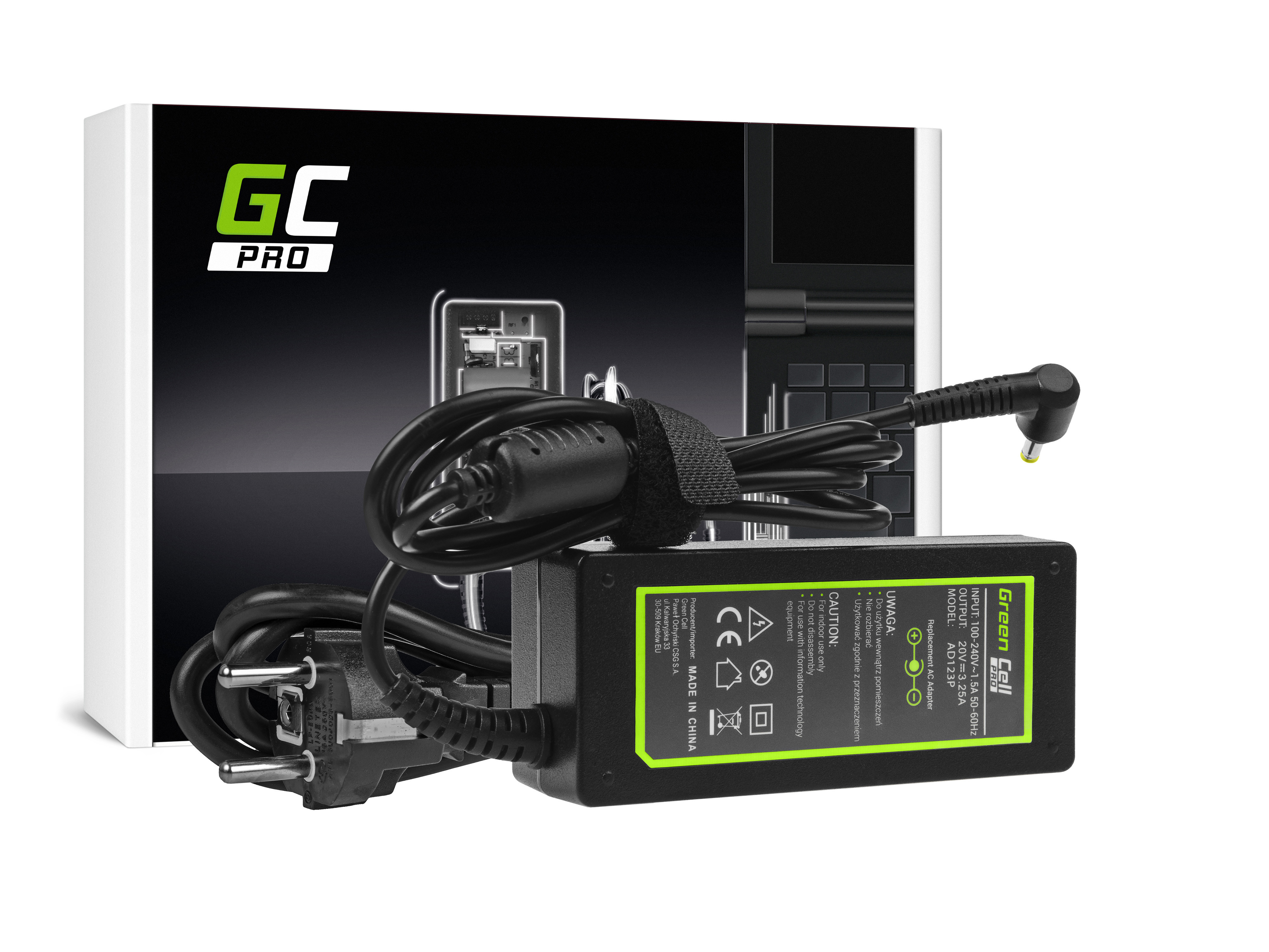 Green Cell AD123P Nabíječka adaptér pro Lenovo IdeaPad 100-15IBD 110-15ACL 110-15ISK 310-15ISK 320-15IKB 320-15ISK 20V 65W