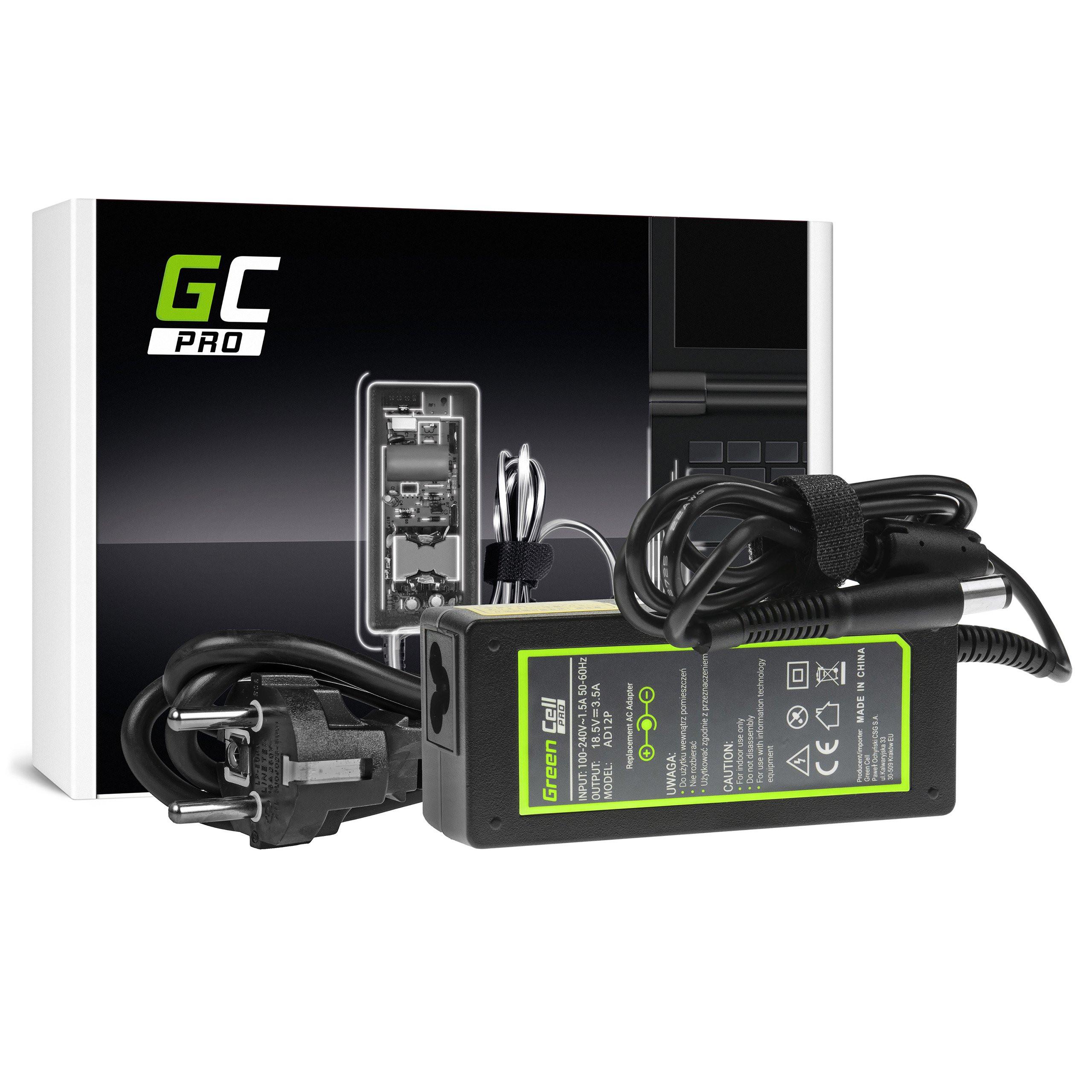 Green Cell PRO Charger AC Adapter 18.5V 3.5A 65W for HP 250 G1 255 G1 ProBook 450 G2 455 G2 Compaq Presario CQ56 CQ57 CQ58 CQ60