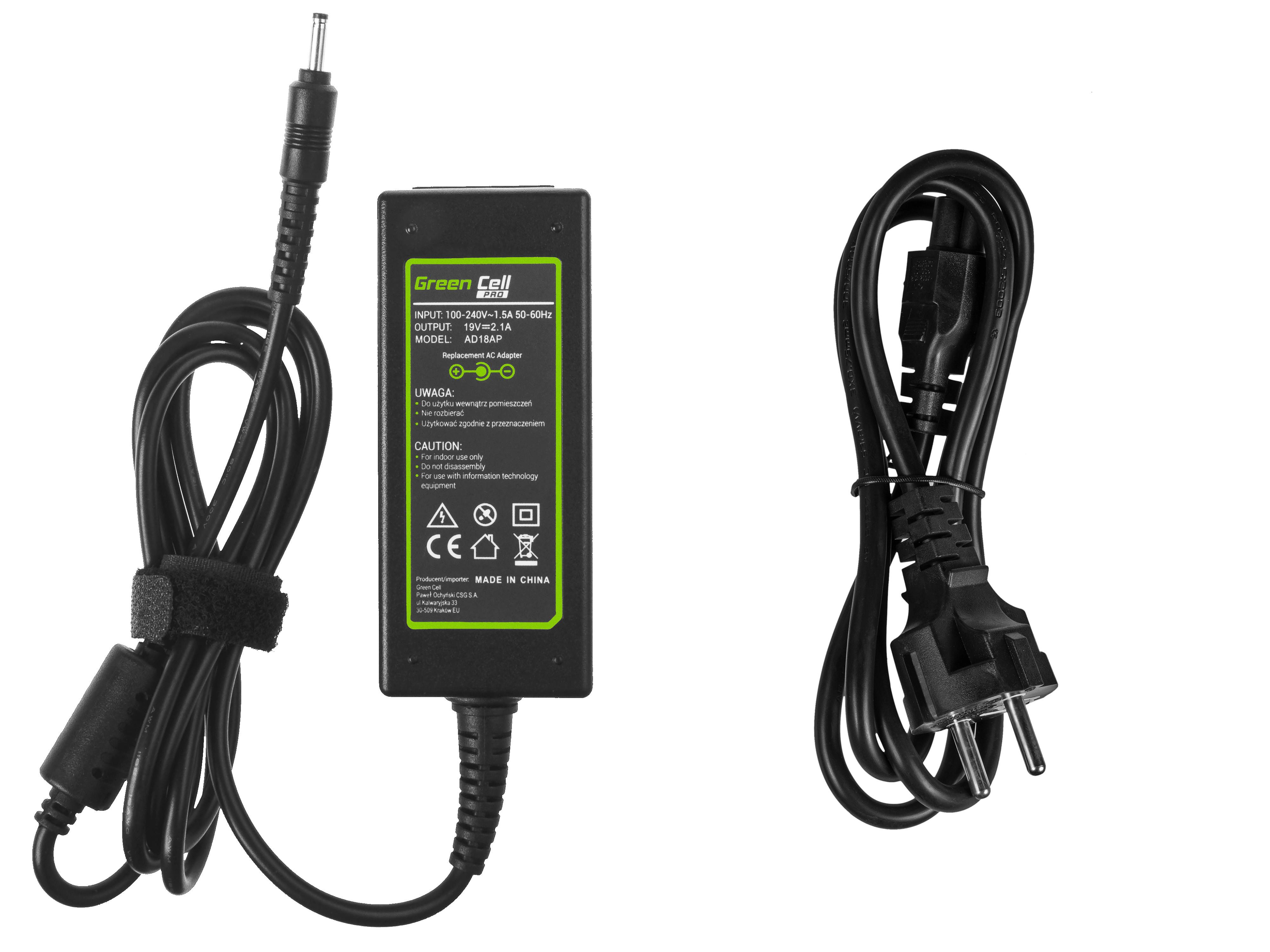 Green Cell AD18AP Nabíječka adaptér pro Samsung 530U NP530U3B NP530U3C 535U NP535U3C NP540U3C NP900X3C NP905S3G 19V 40W