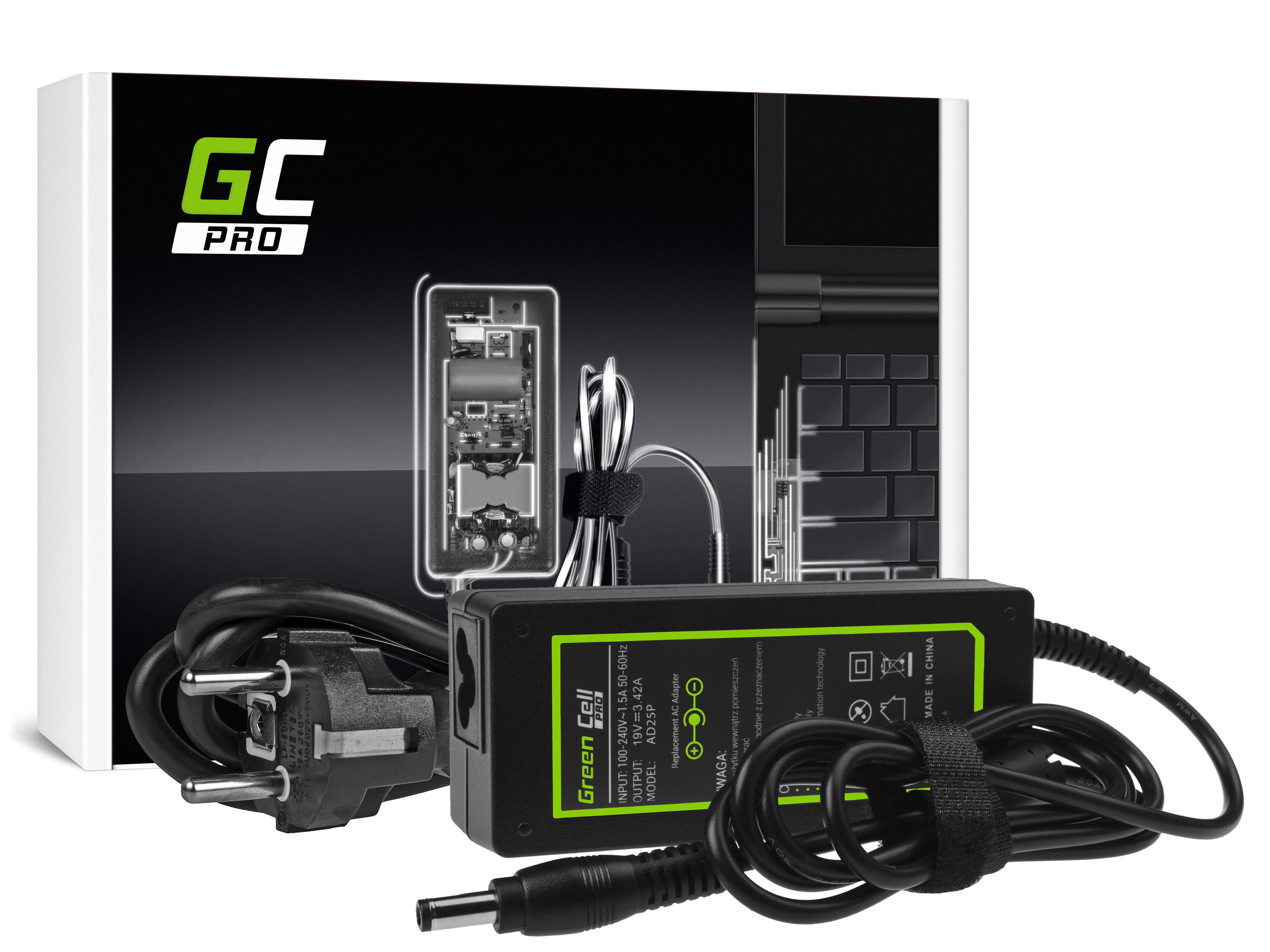 Green Cell AD25P Nabíječka Adaptér pro Toshiba Satellite C650 C660D L750 Asus X550C X550V R510 Lenovo G530 19V 3.42A 65W
