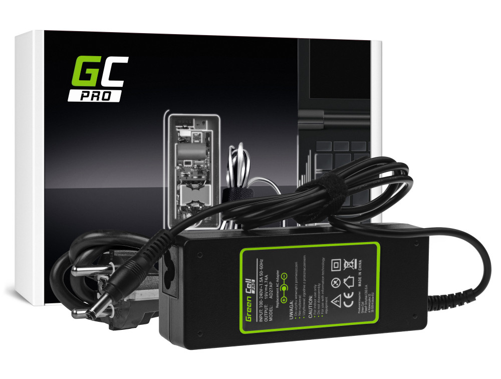 Green Cell PRO töltő / AC adapter Asus K50IJ K52 K52J K52F X53S K53S X54H X54C Toshiba Satellite A200 A300 19V 4.74A