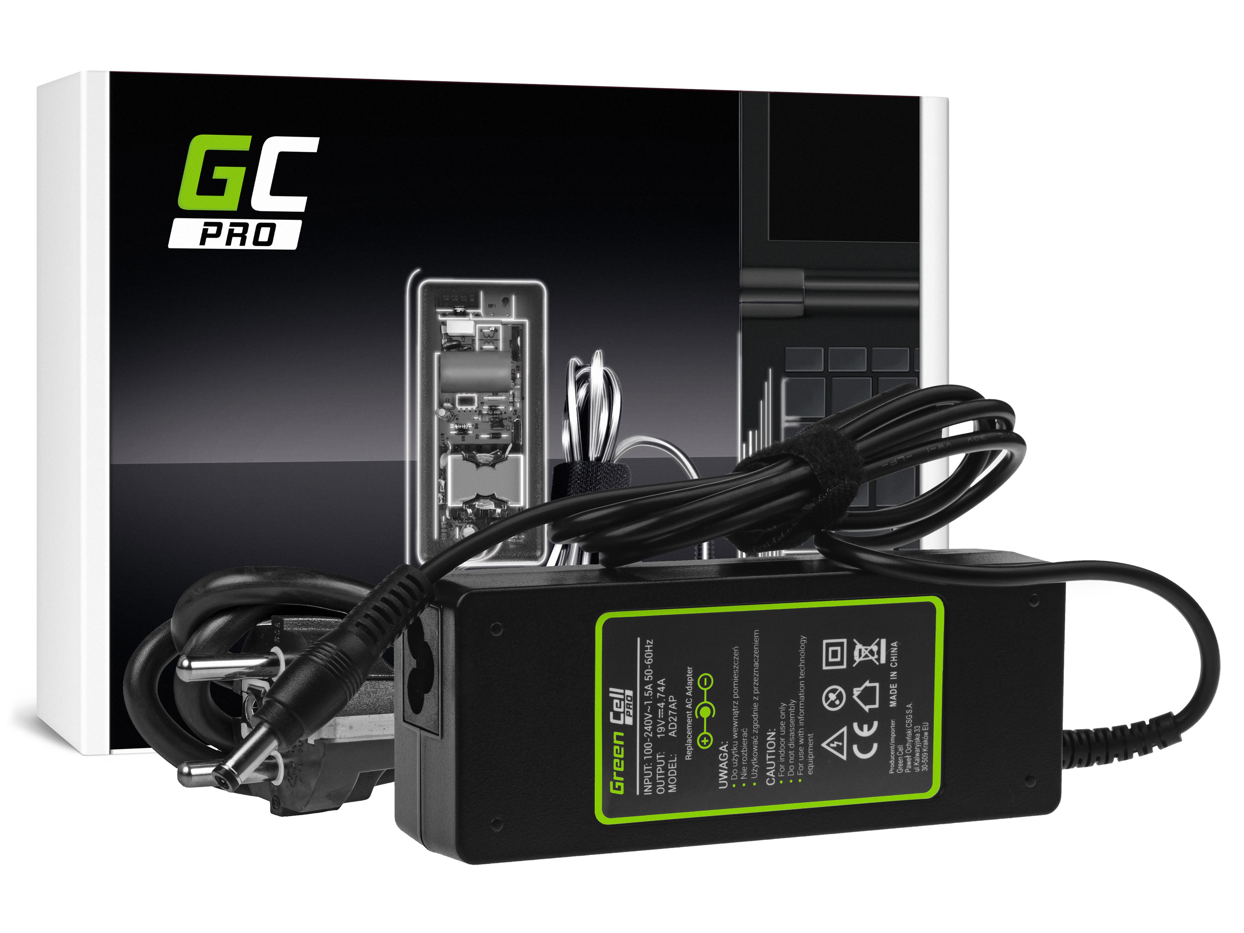 Green Cell AD27AP Nabíječka Adaptér pro Asus K50IJ K52 K52J K52F X53S K53S X54H X54C Toshiba Satellite A200 A300 19V 4.74A 90W