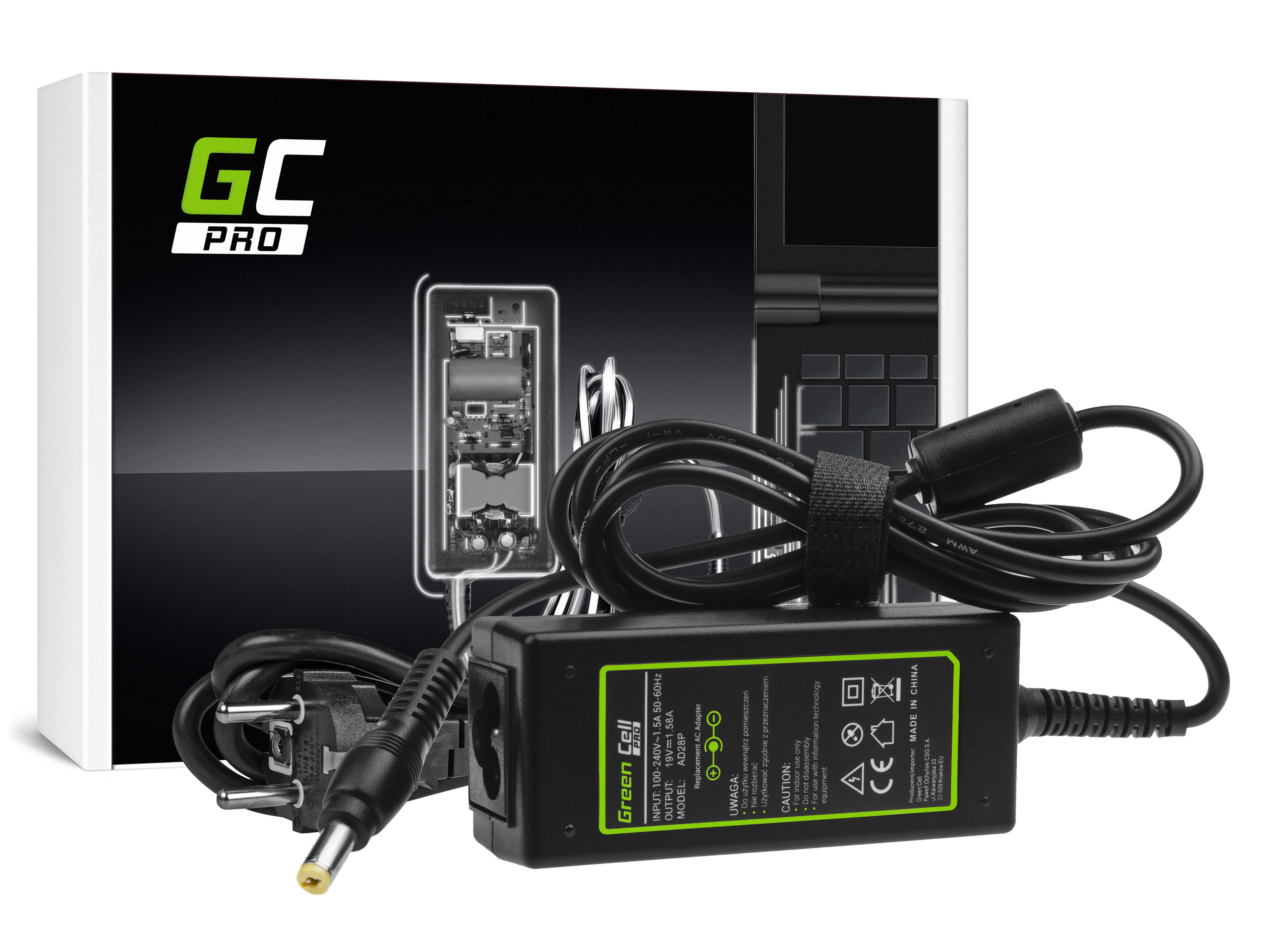 Green Cell AD28P Nabíječka adaptér pro Acer Aspire One 521 522 531 751 752 753 756 A110 A150 D150 D250 19V 30W