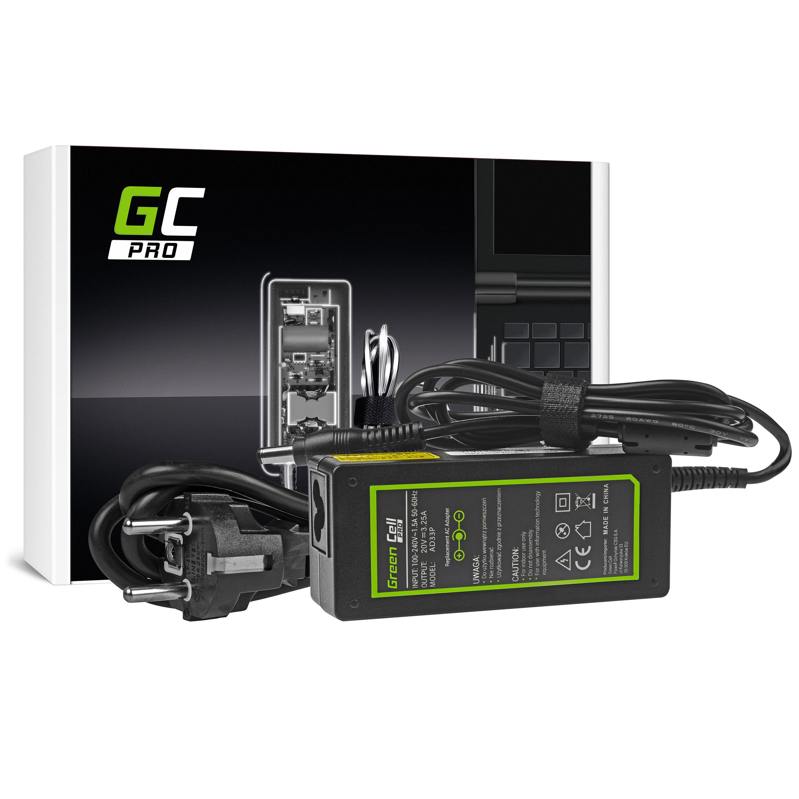 Zasilacz Ładowarka Green Cell PRO 20V 3.25A 65W do Lenovo B560 B570 G530 G550 G560 G575 G580 G580a G585 IdeaPad Z560 Z570 P580