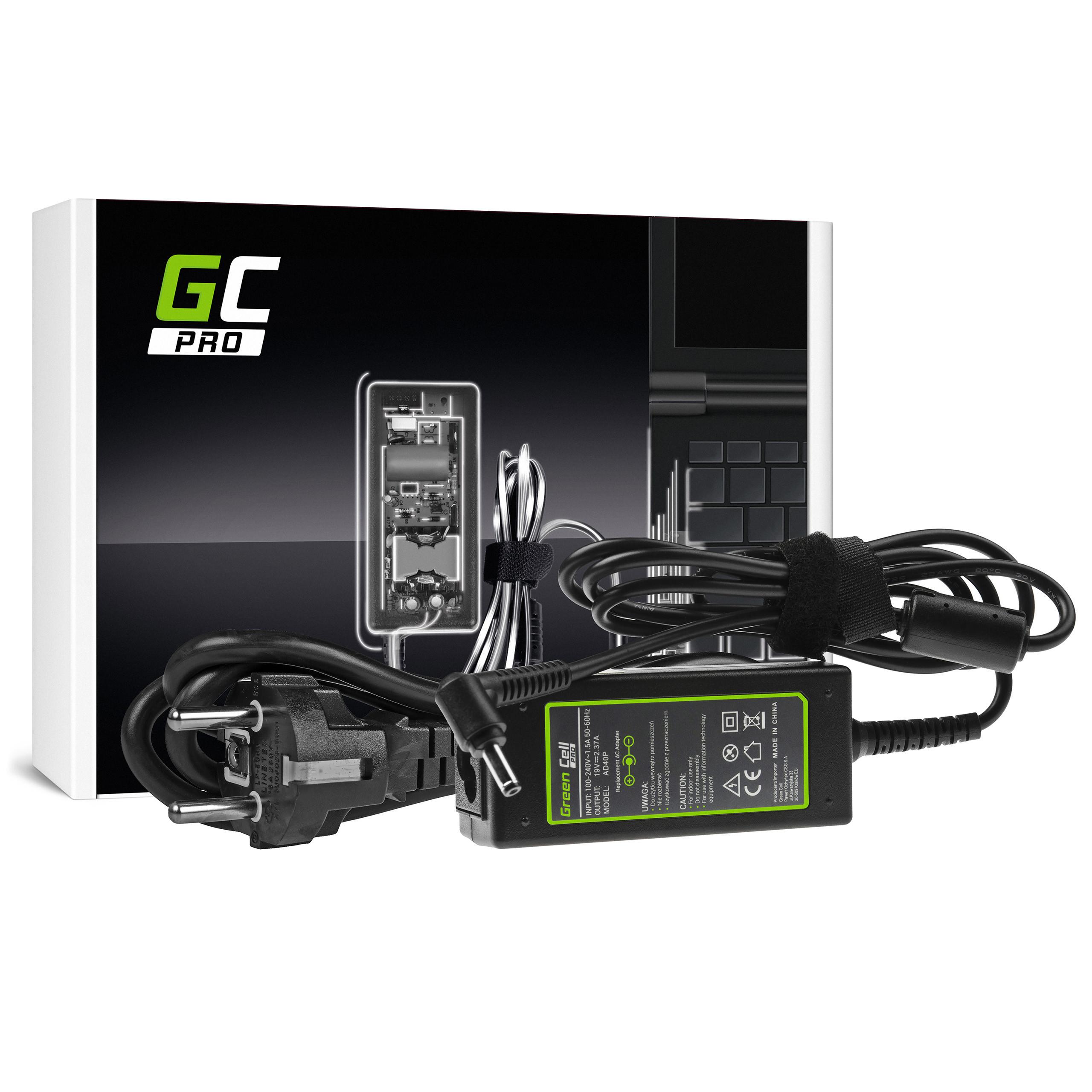Green Cell AD40P Adaptér Nabíječka pro ASUS Zenbook BX21A 19V 2.37A | 45W | konektor 4.0mm-1.35mm
