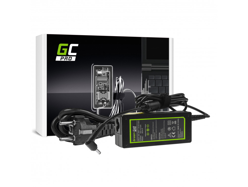 AC adapter Green Cell PRO 19V 3.42A 65W Asus F553 F553M F553MA R540L R540S X540S X553 X553M X553MA Zenbook UX303L