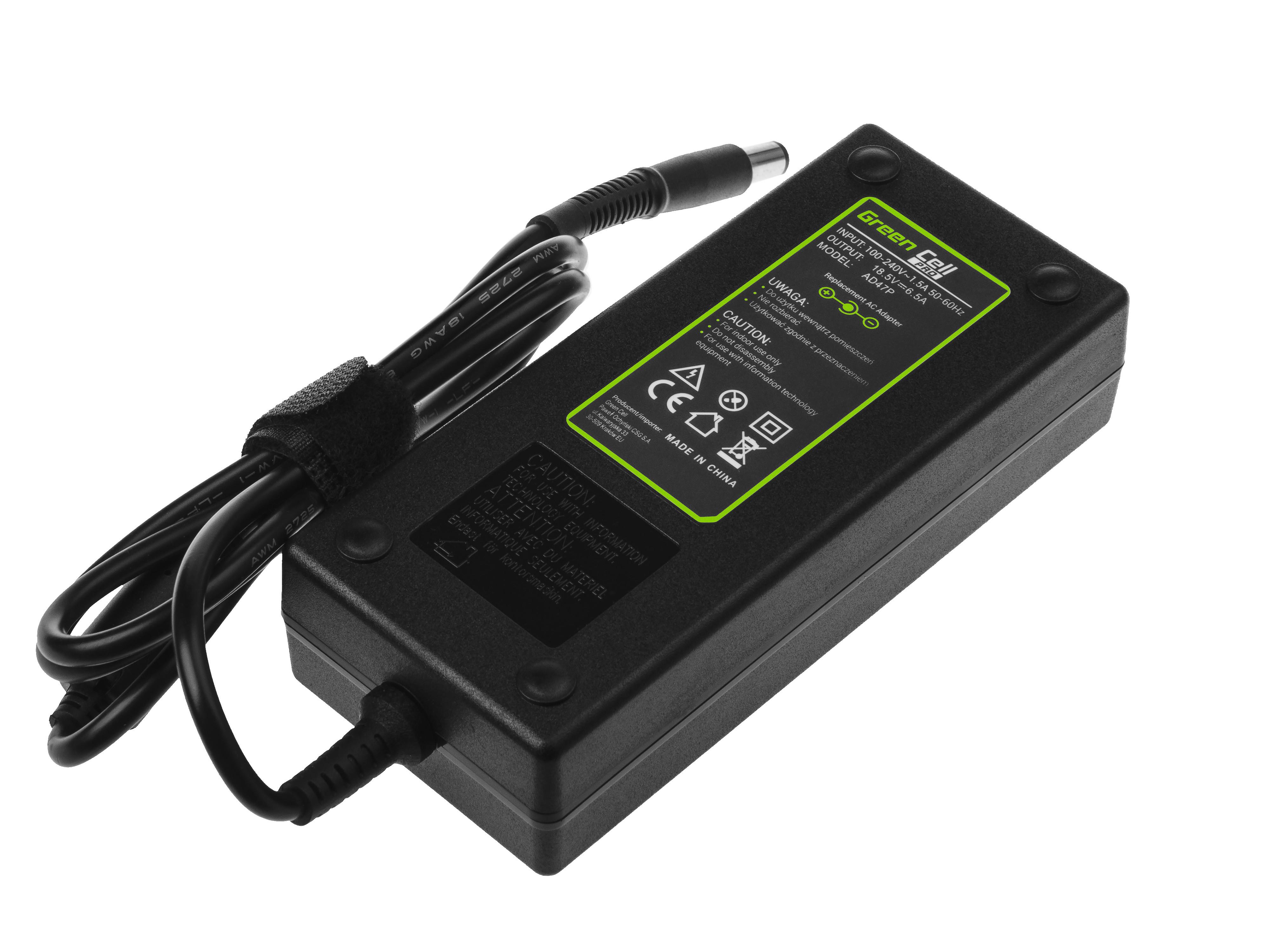 Green Cell AD47P Adaptér Nabíječka pro HP Compaq Envy Elitebook Pavilion 18.5V 6.5A 120W 7.4-5.0mm