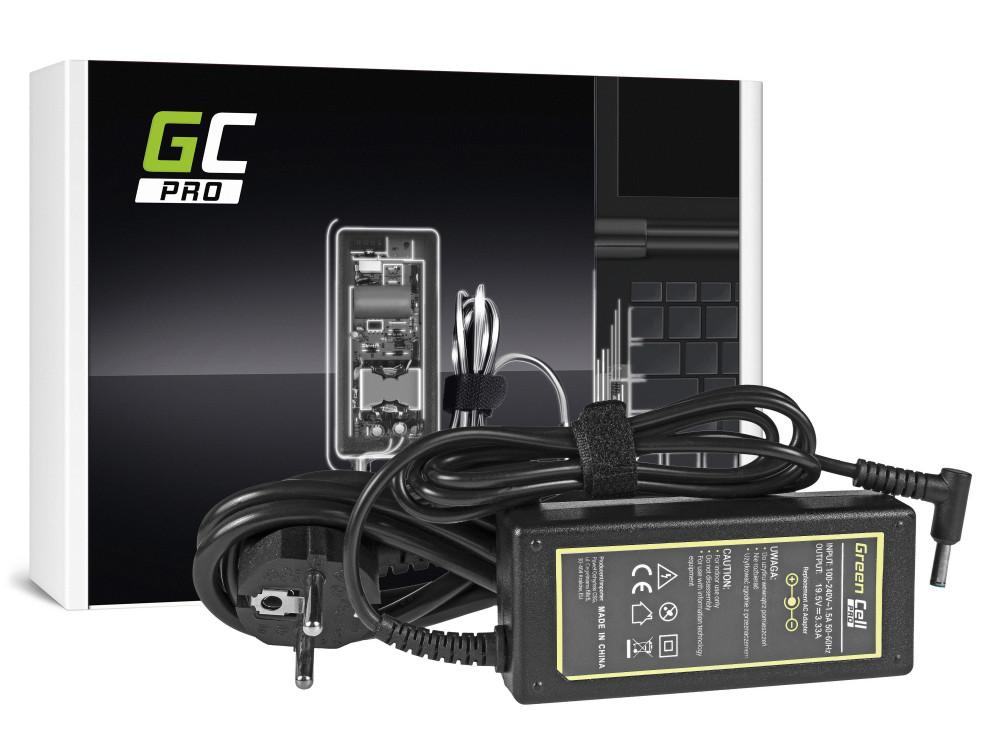 Green Cell PRO töltő AC adapter HP 65W / 19.5V 3,33 / 4.5mm-3.0mm