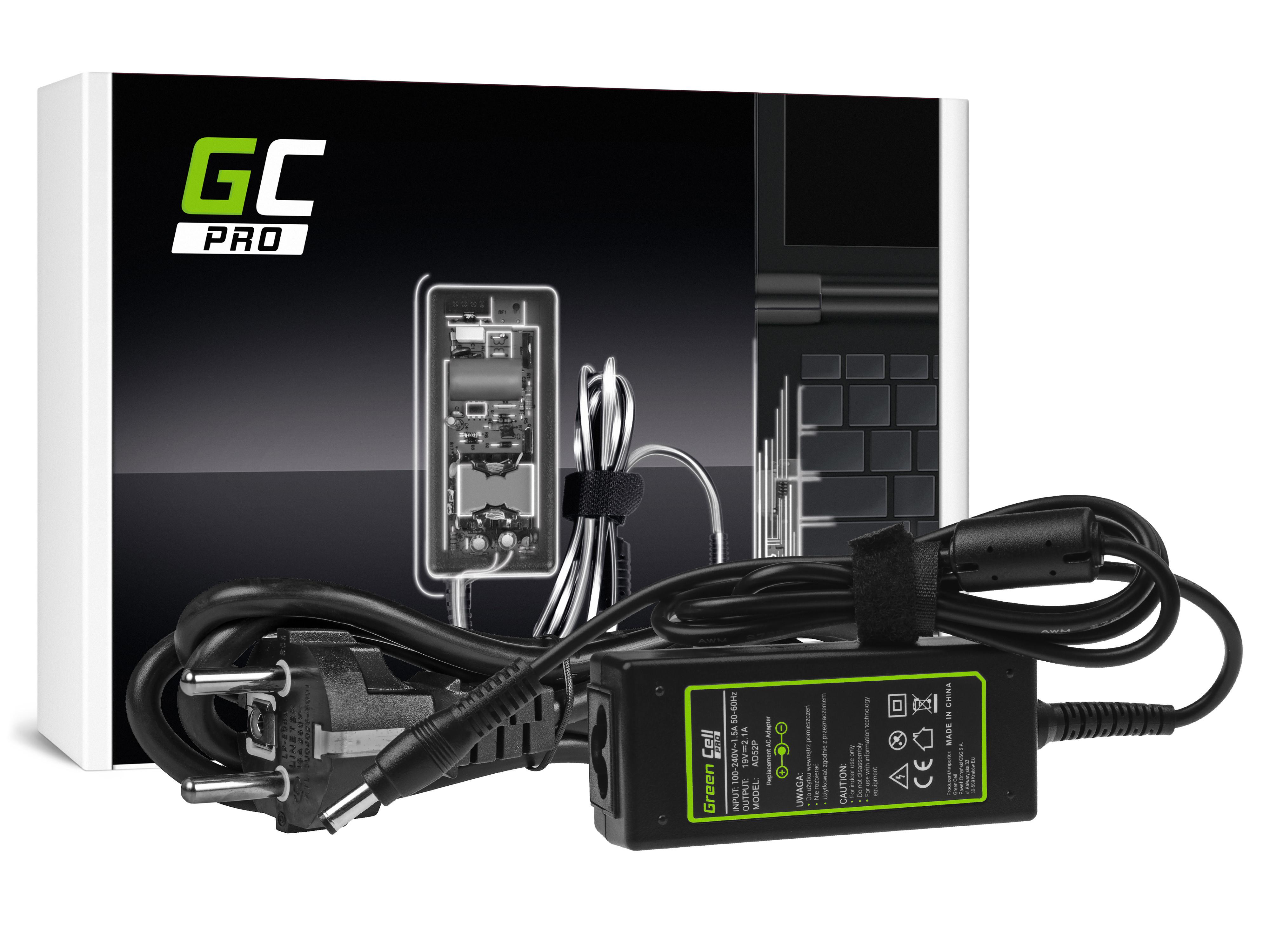 Green Cell AD52P Nabíječka Adaptér pro MSI Wind U90 U100 U110 U120 X-Slim X340 X360 19V 2.1A 5.5-2.5mm | 40W