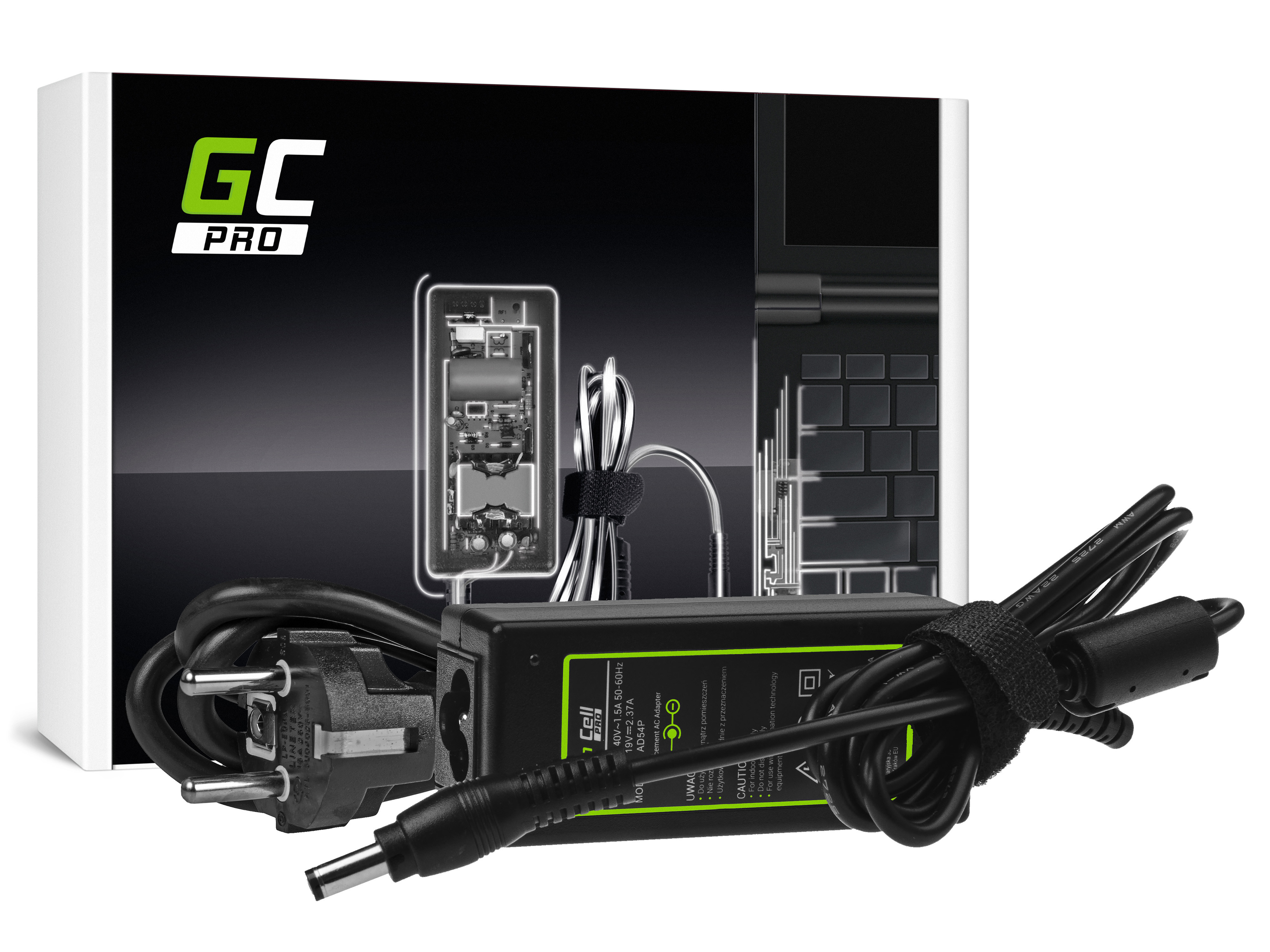 Green Cell AD54P Adaptér Nabíječka Toshiba Satellite C50D C75D C670D C870D U940 U945 Portege Z830 Z930 19V 2.37A 45W
