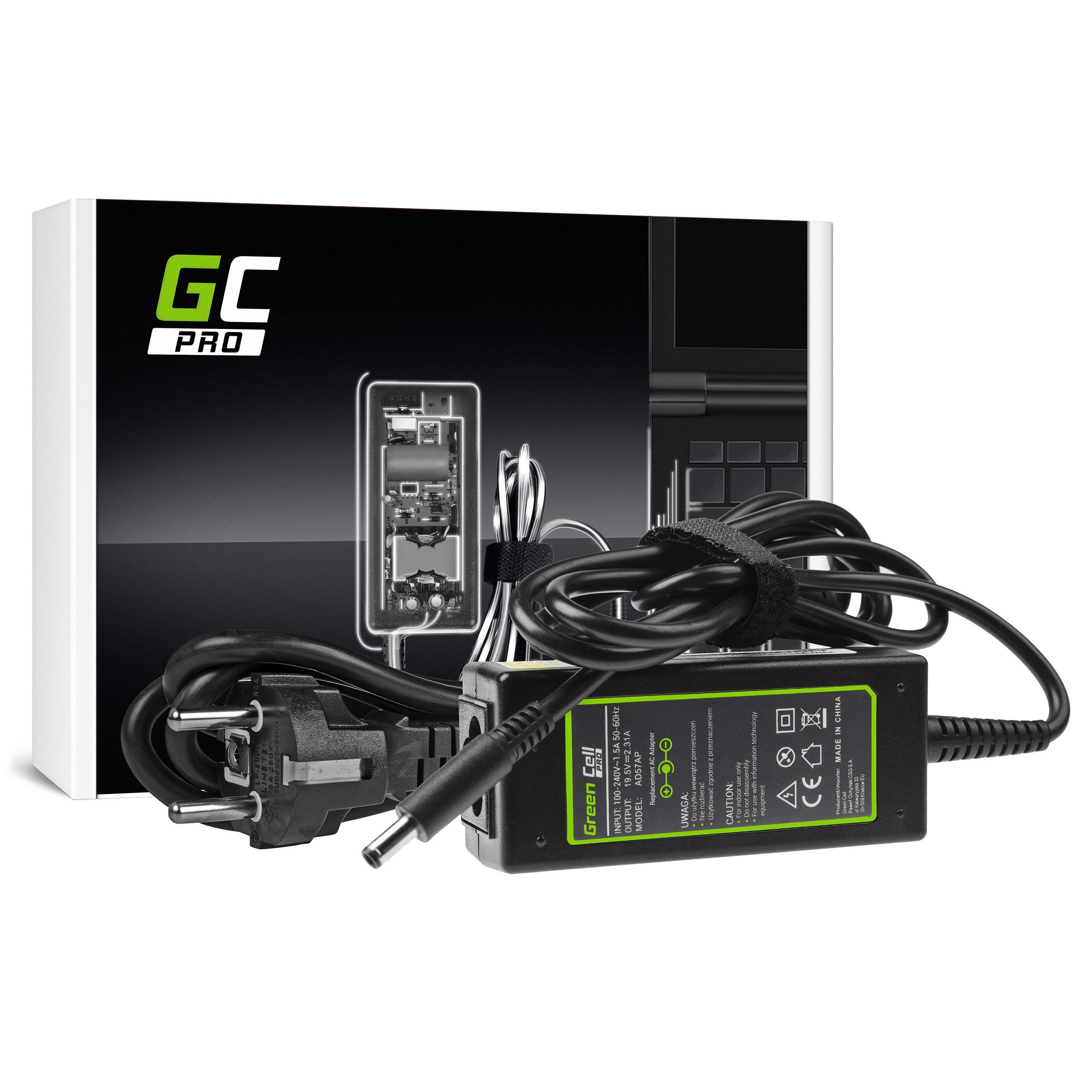 Green Cell AD57AP Adaptér Nabíječka Dell XPS 13 9343 9350 9360 Inspiron 15 3552 3567 5368 5551 5567 19.5V 45W