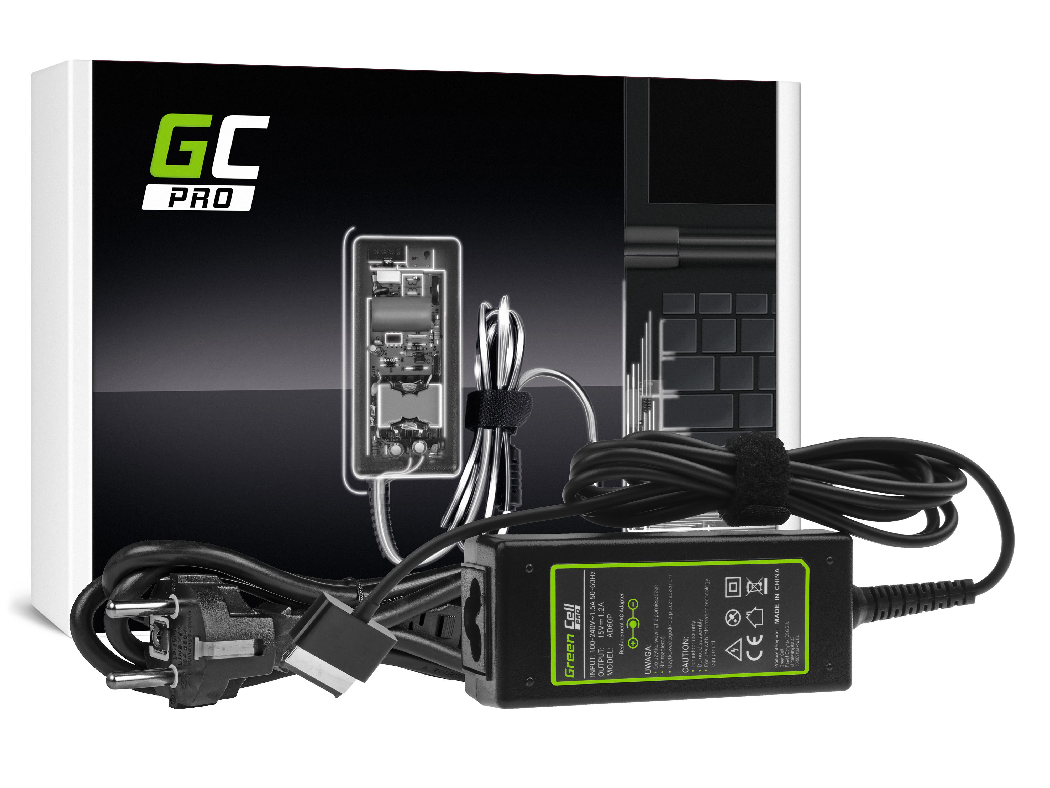 Green Cell AD60P Nabíječka Adaptér pro Asus Eee Pad Transformer TF101 TF201 TF300 TF300T TF300TG 15V 1.2A 18W